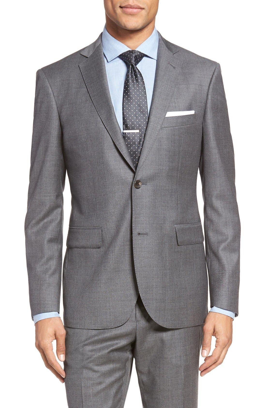 Espada Trim Fit Wool Blazer,                         Main,                         color, Medium Grey
