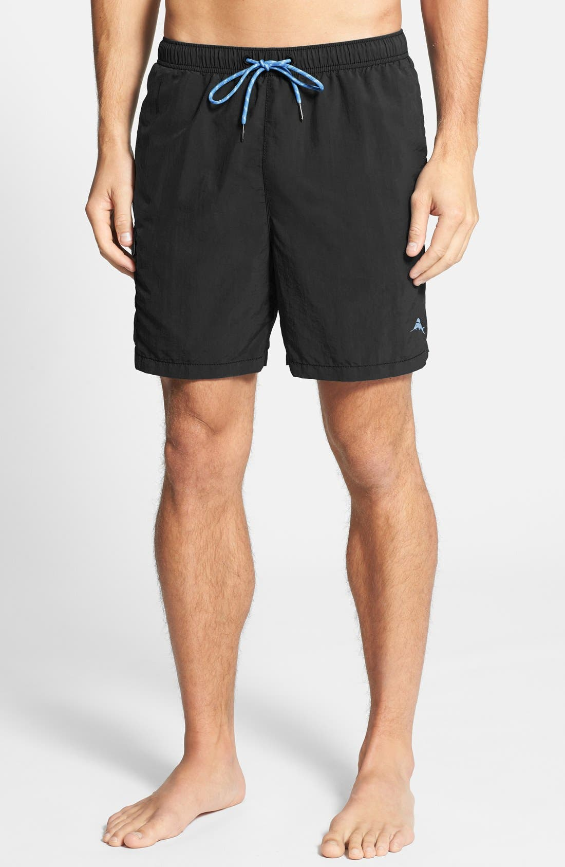 Naples Happy Go Cargo Swim Trunks,                             Main thumbnail 1, color,                             Black
