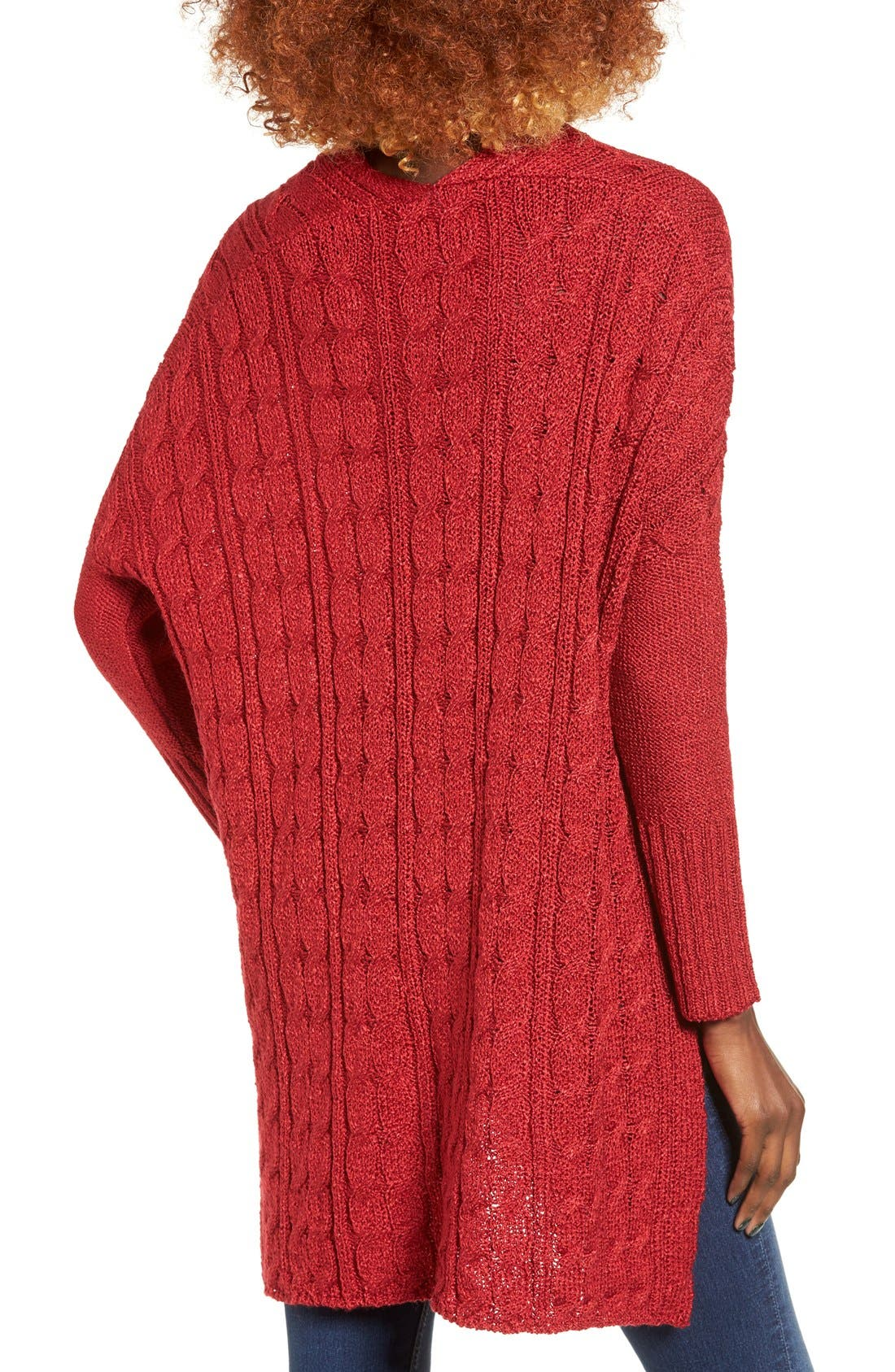 Alternate Image 2  - Love by Design Cable Knit Pullover