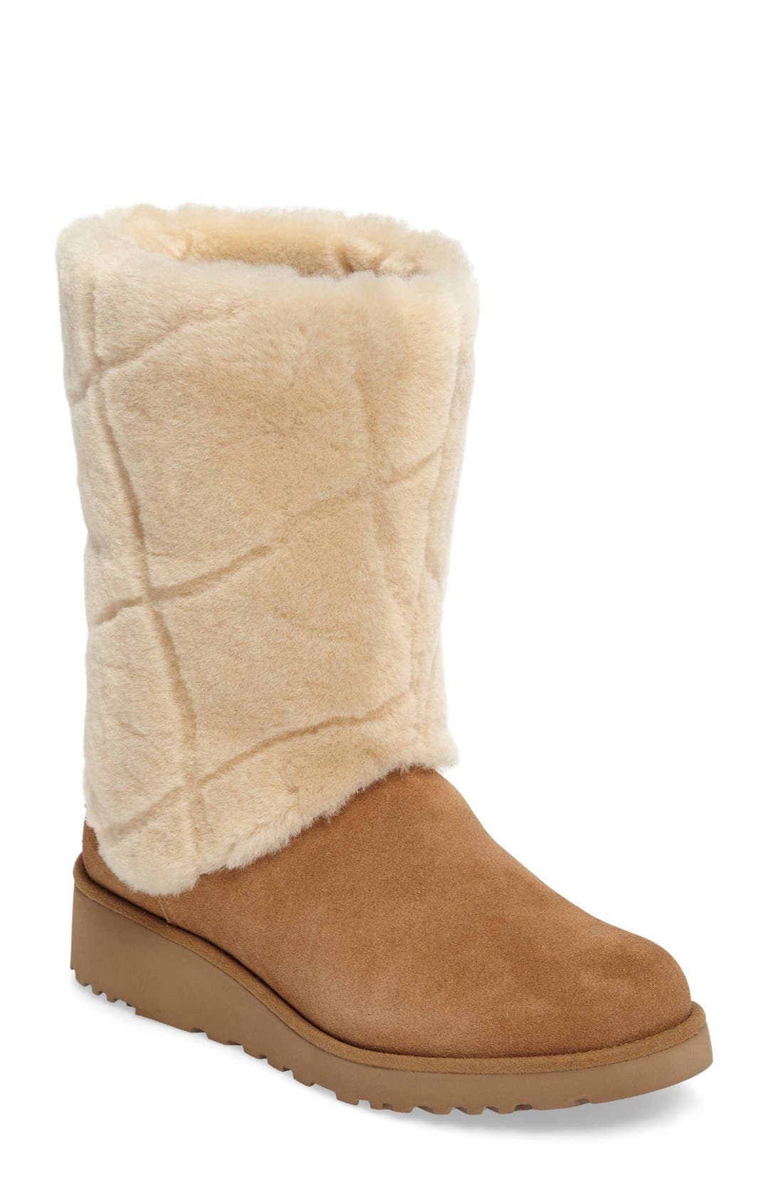 Alternate Image 1 Selected - UGG® Ariella Luxe Diamond Genuine Shearling Boot (Women)