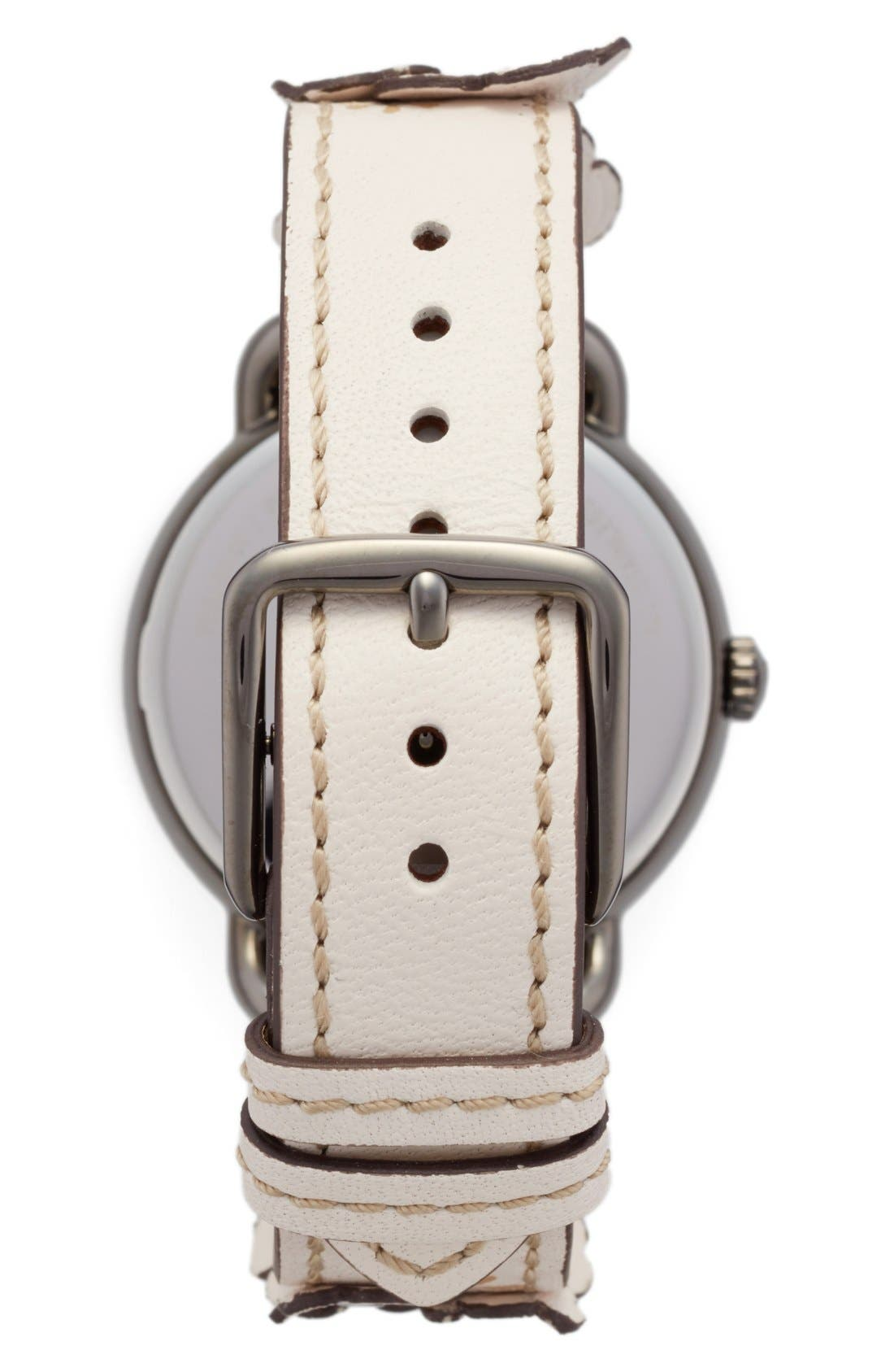 Delancey Leather Strap Watch, 36mm,                             Alternate thumbnail 2, color,                             Grey/ Chalk