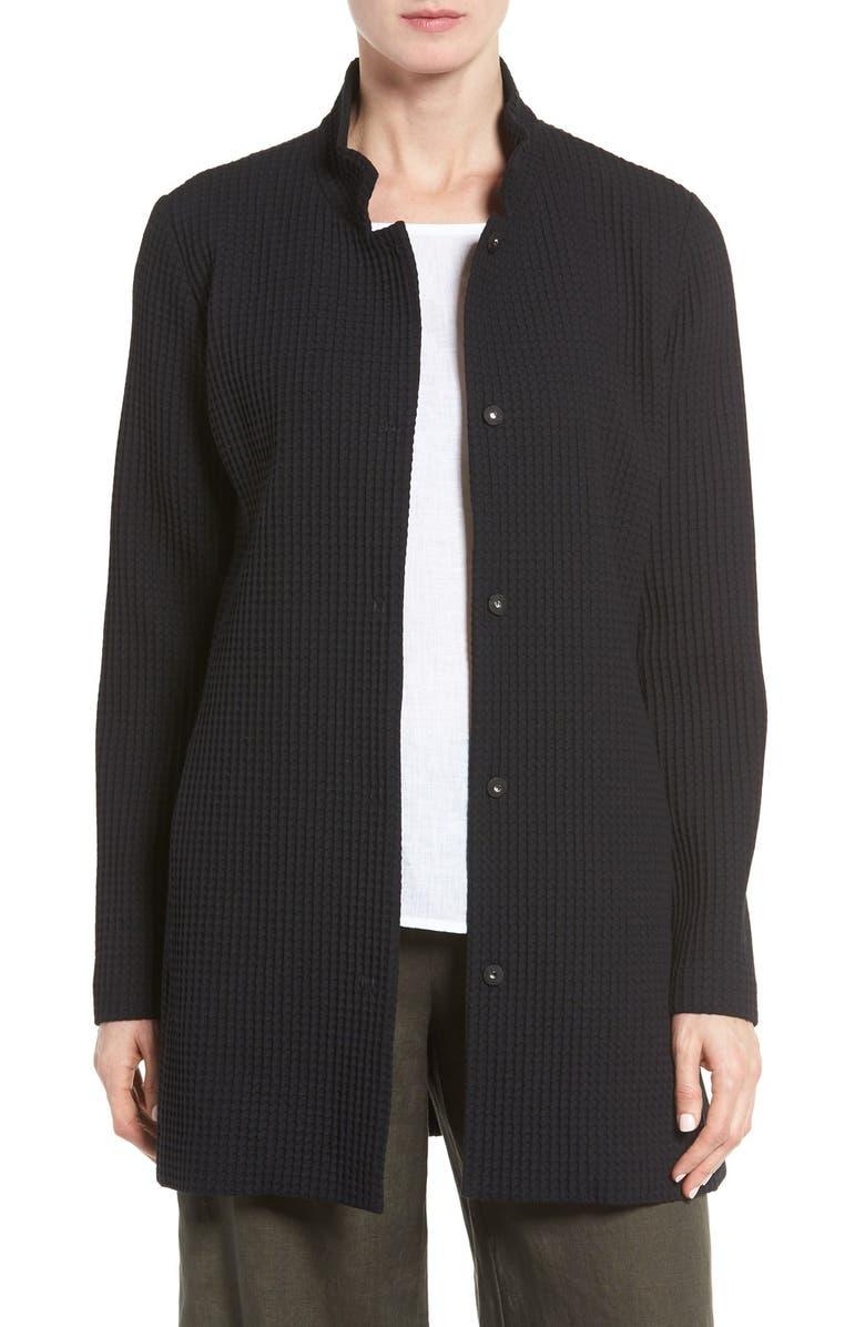 Grid Stretch Cotton  Tencel? Blend Jacket