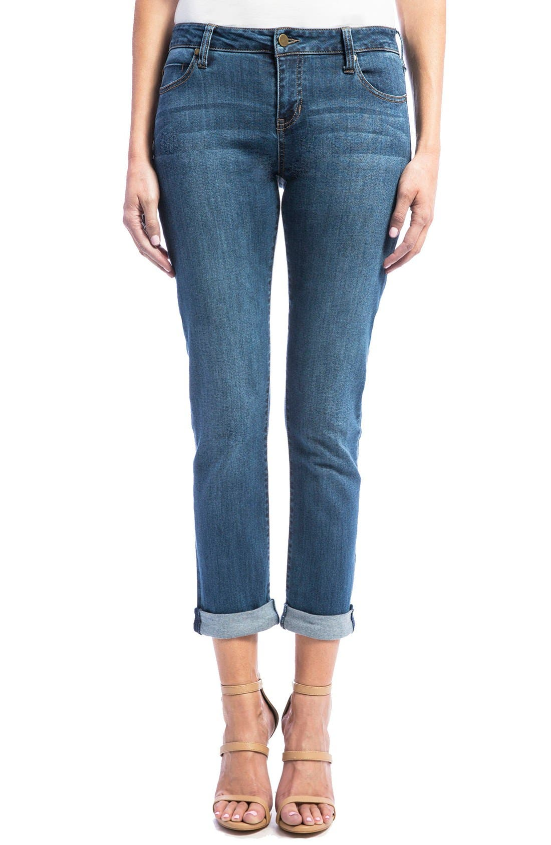 Jeans Company Peyton Slim Stretch Crop Boyfriend Jeans,                         Main,                         color, Montauk Mid. Blue