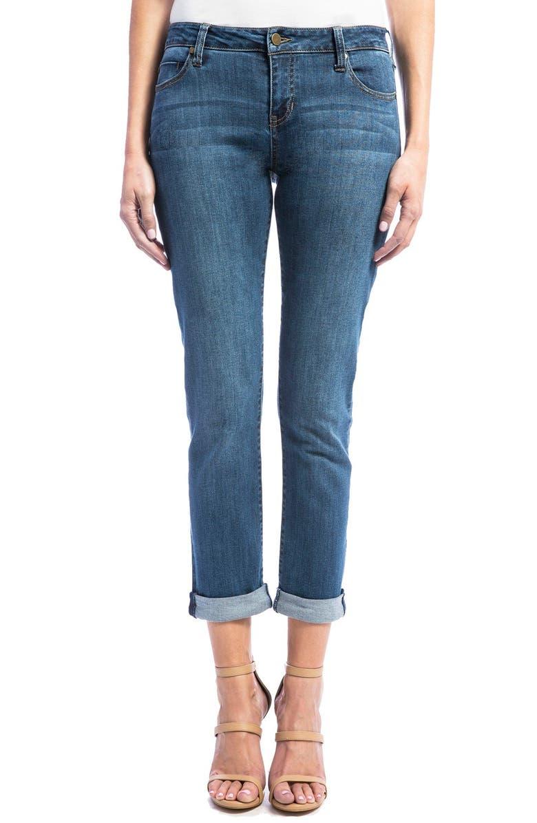 Jeans Company Peyton Slim Stretch Crop Boyfriend Jeans