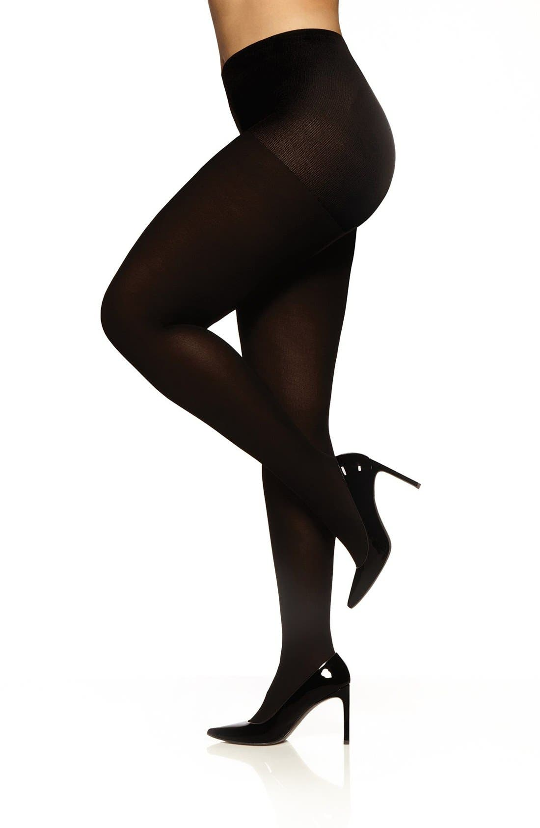 Easy-On 70 Denier Tights,                             Main thumbnail 1, color,                             Black