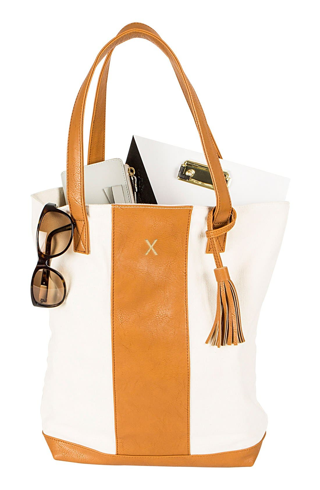 Alternate Image 5  - Cathy's Concepts Monogram Tote