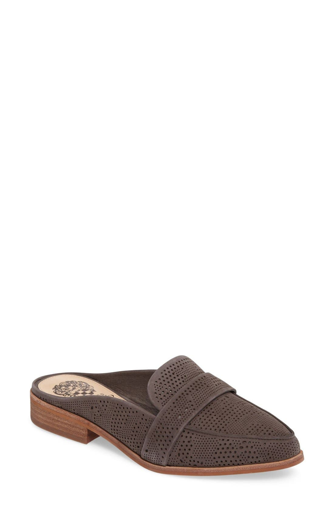 Kaylana Loafer Mule,                         Main,                         color, Greystone Nubuck Leather