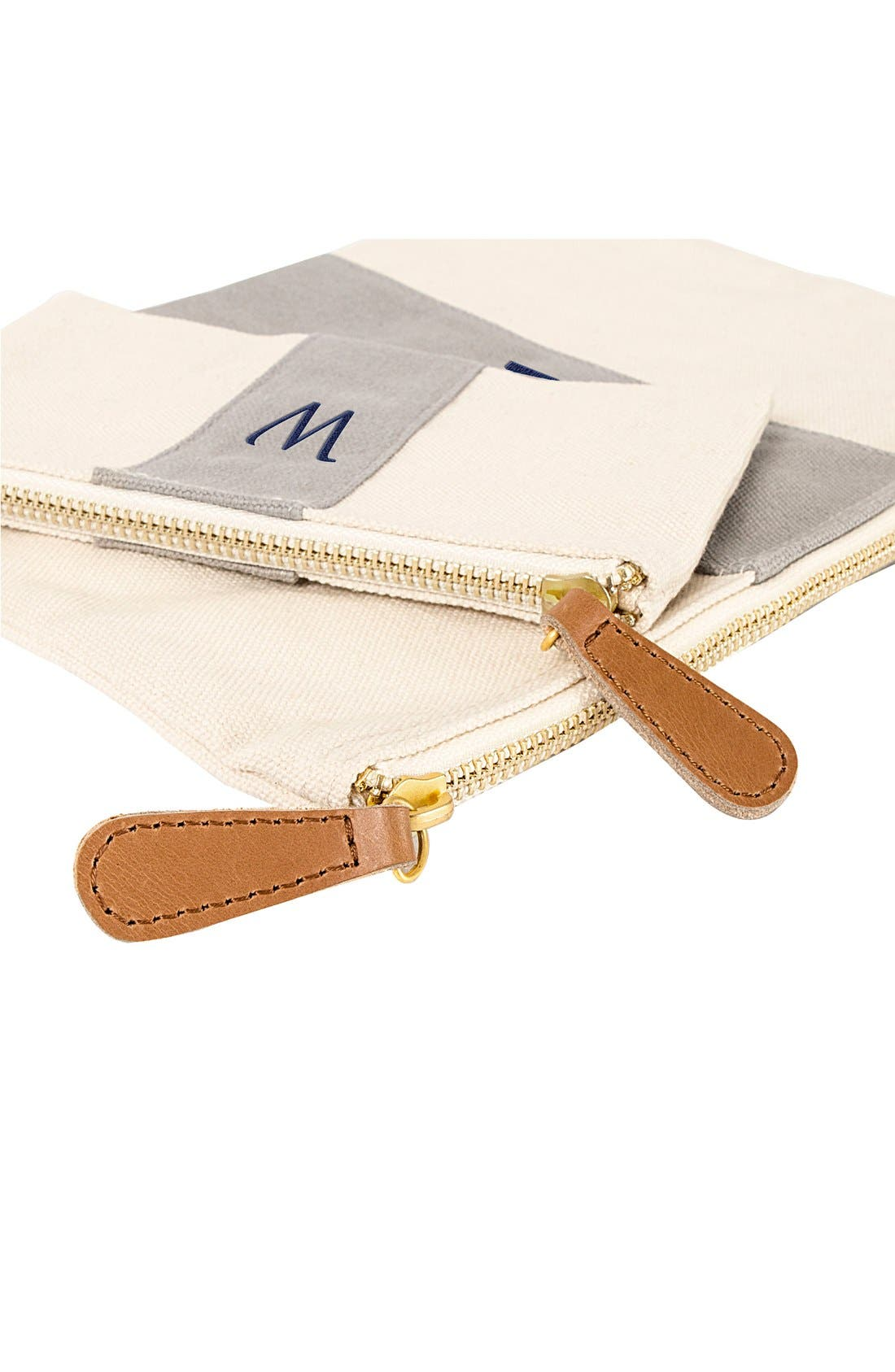 Alternate Image 3  - Cathy's Concepts Personalized Canvas Clutch