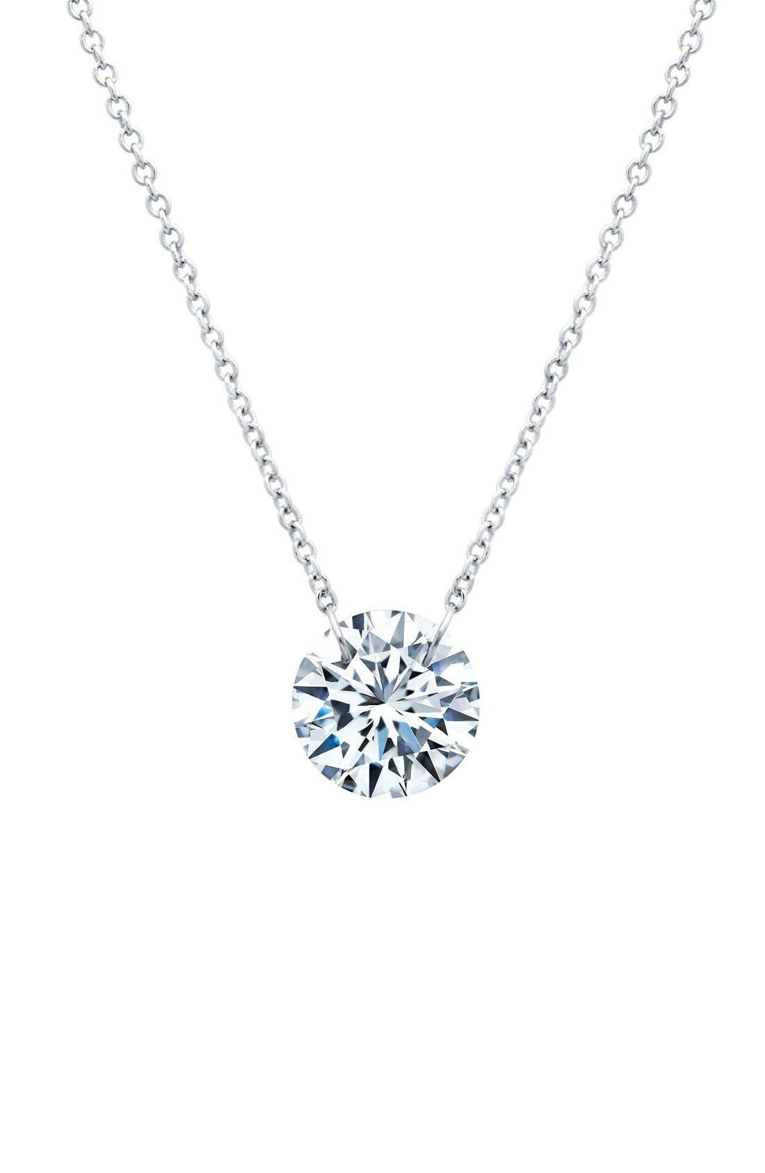 In Motion Frameless Pendant Necklace,                         Main,                         color, Silver
