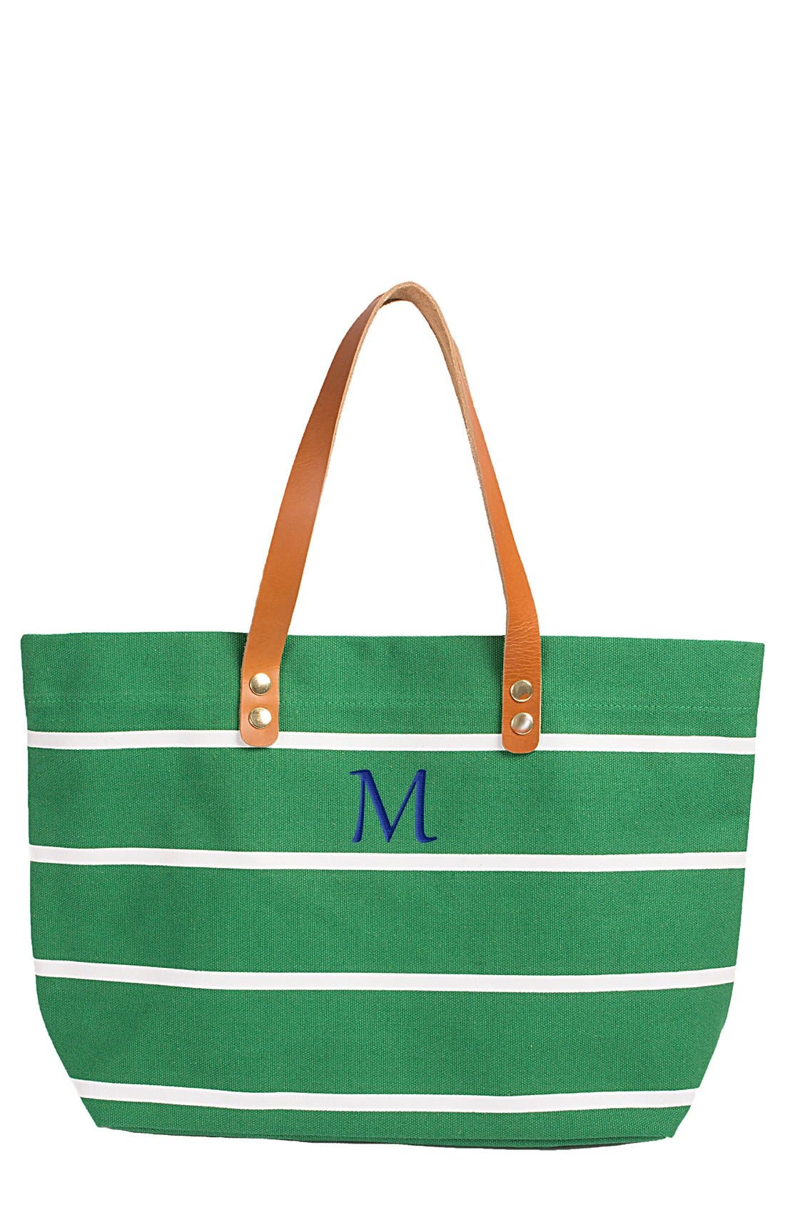 Main Image - Cathy's Concepts Monogram Stripe Tote