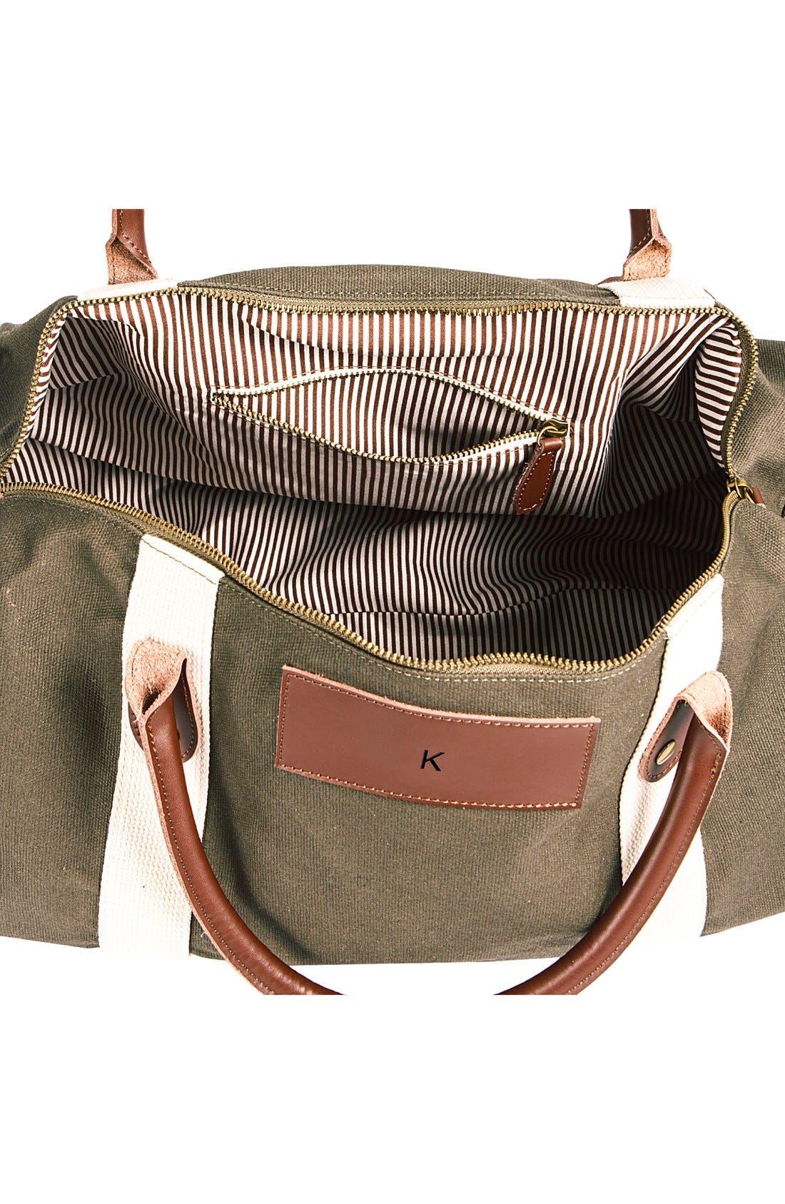 Alternate Image 2  - Cathy's Concepts Monogram Duffel Bag