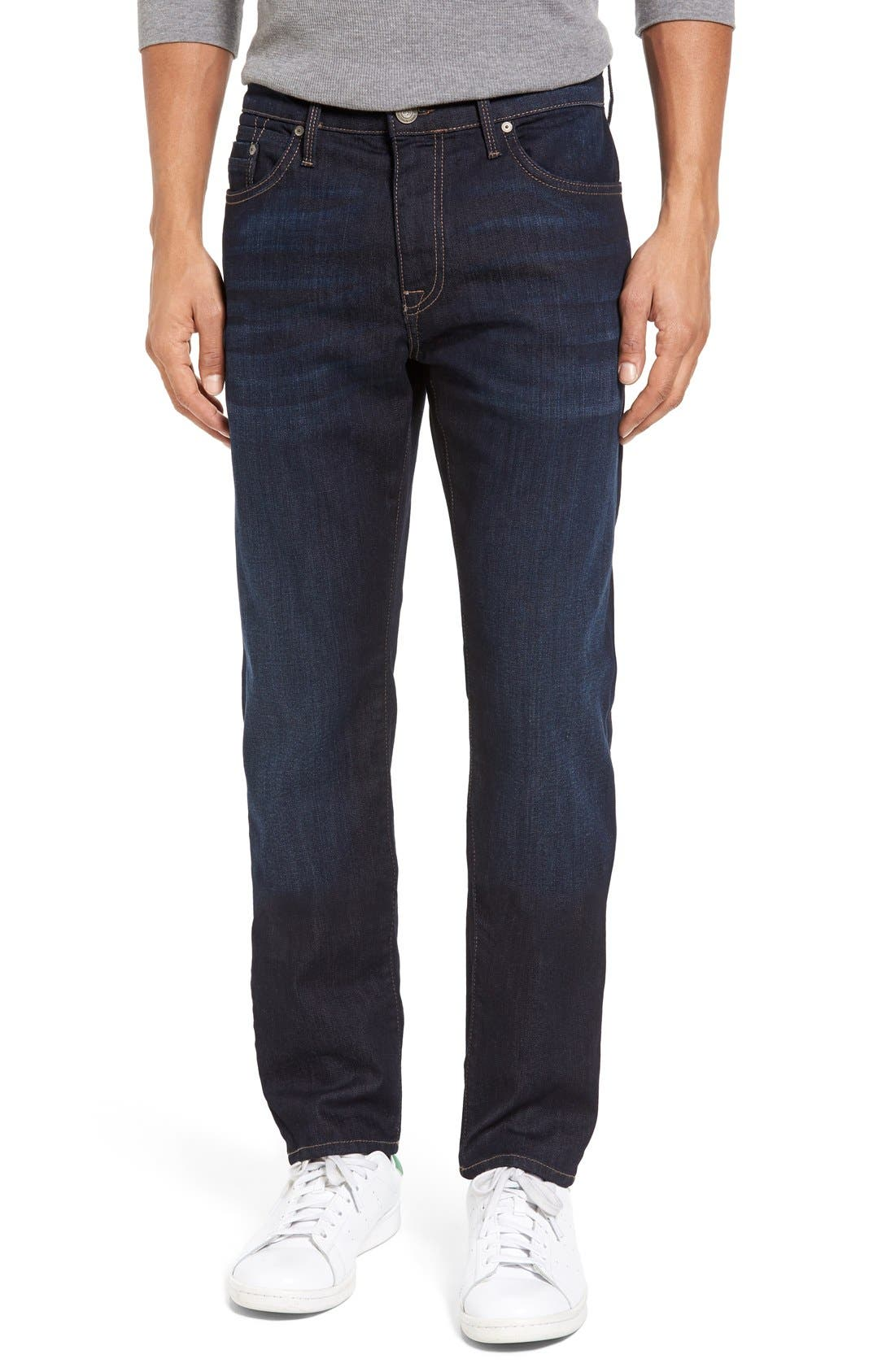 Marcus Slim Straight Leg Jeans,                             Main thumbnail 1, color,                             Rinse Brushed Williamsburg