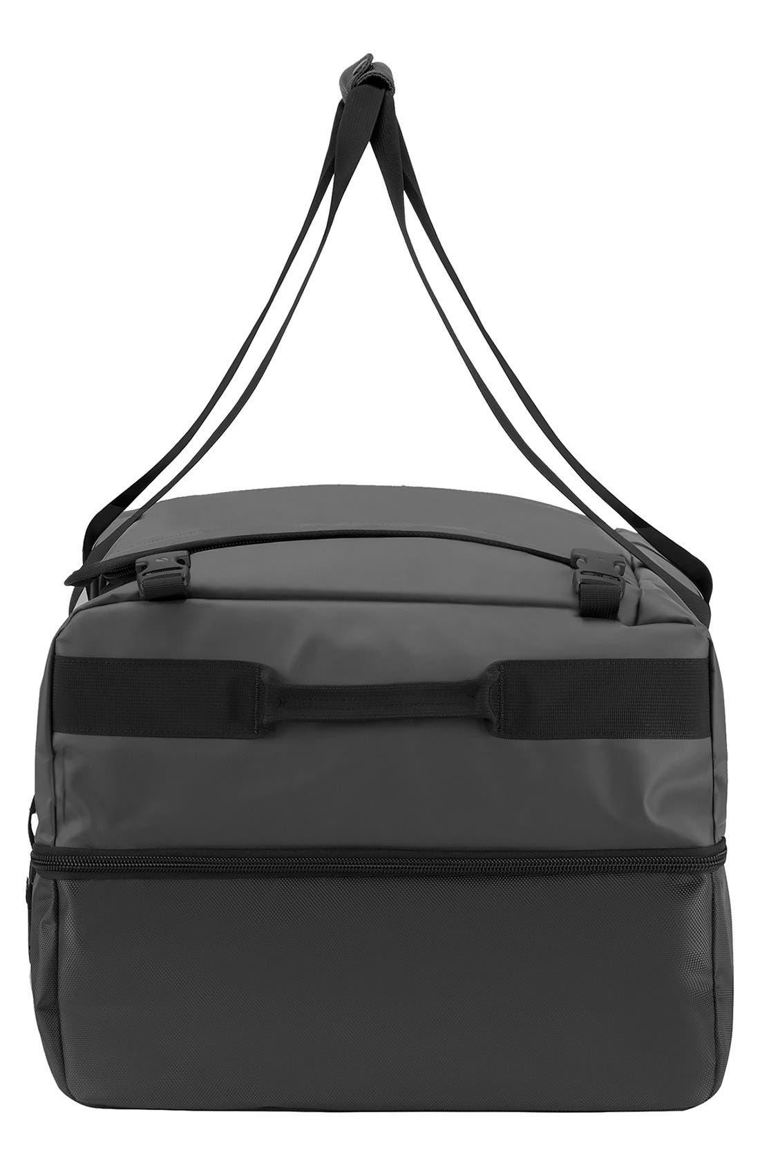 TRACTO Medium Split Convertible Duffel Bag,                             Alternate thumbnail 3, color,                             Black
