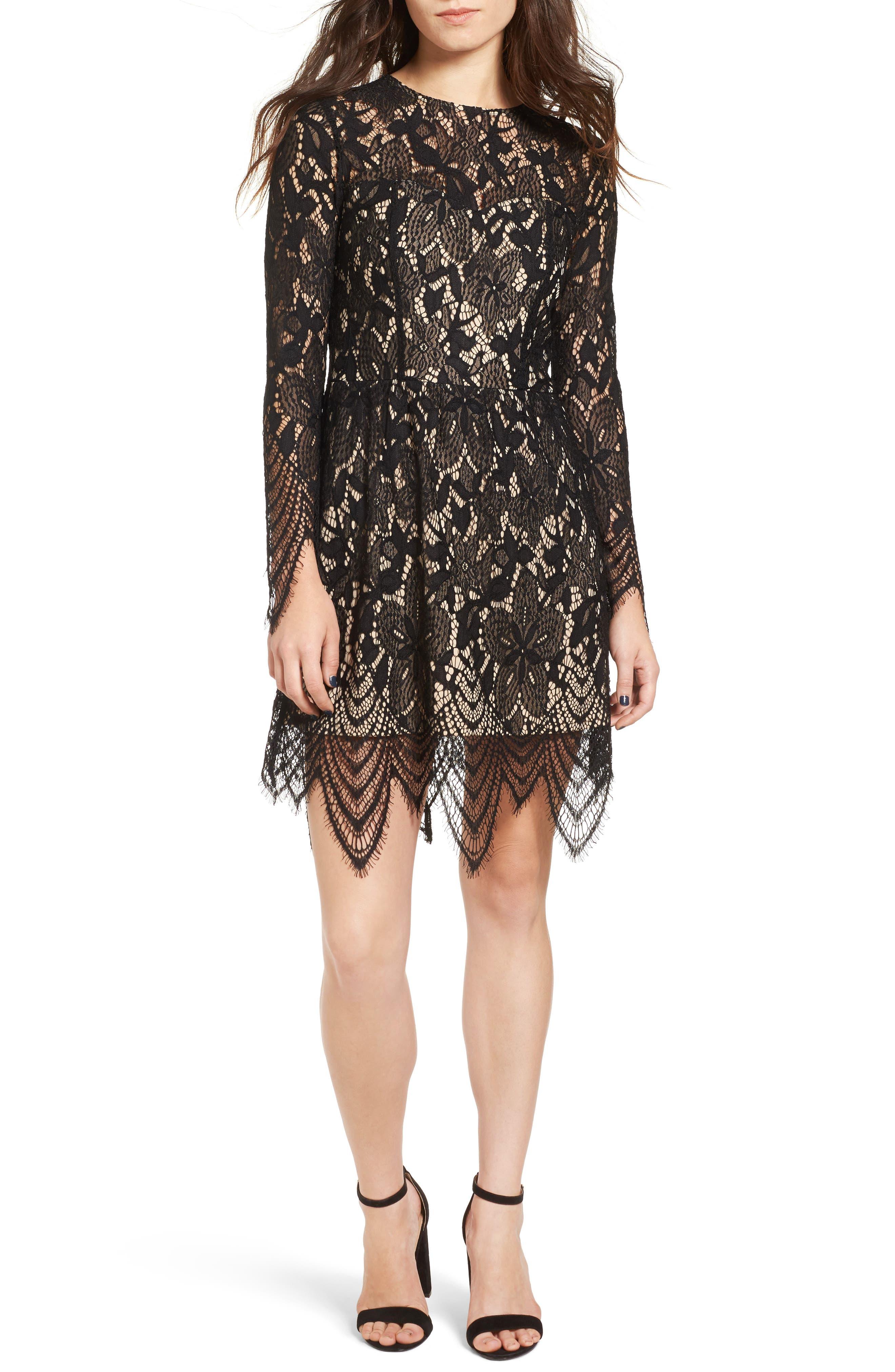 Main Image - Love, Fire Lace Dress