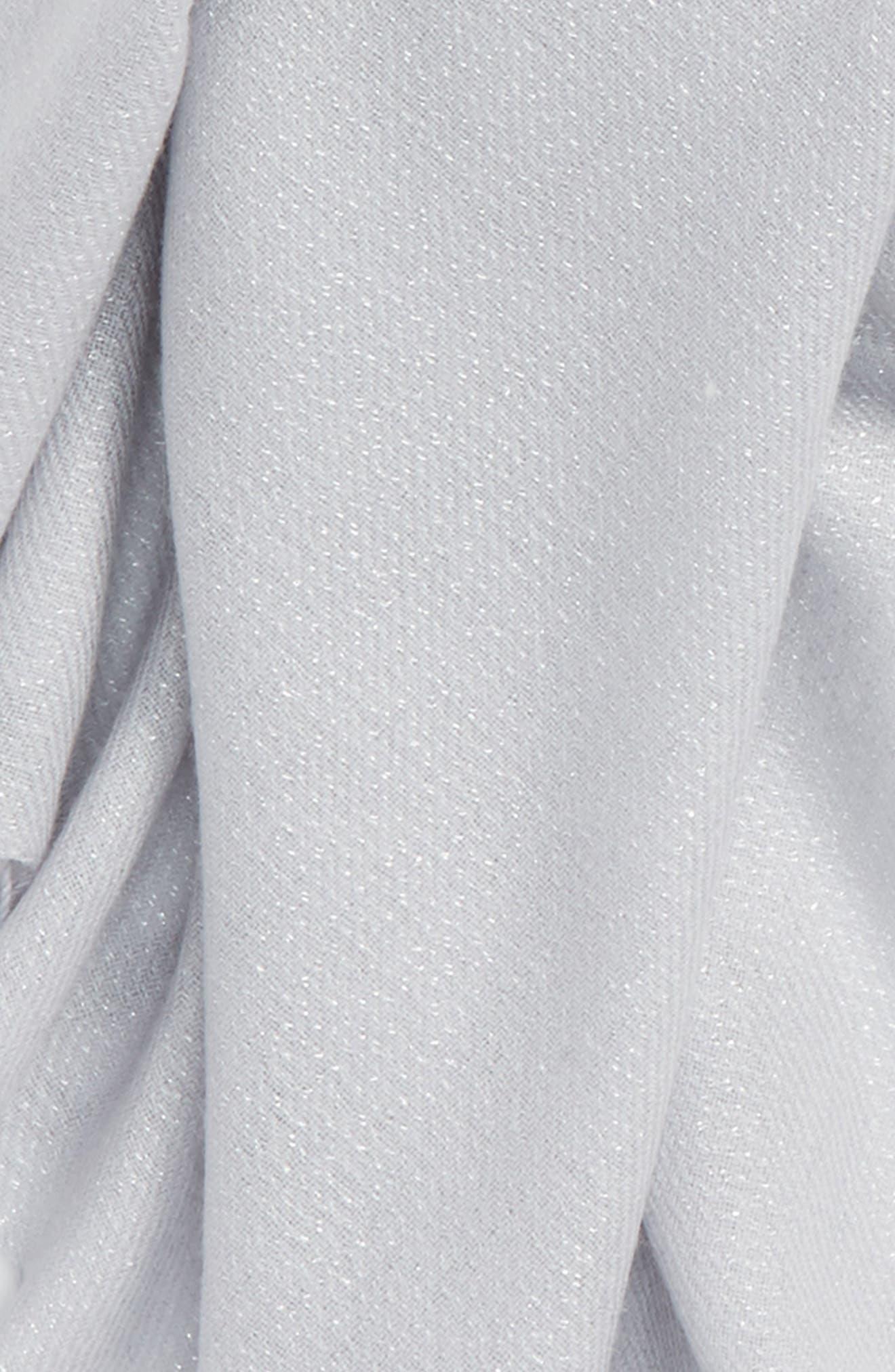 Alternate Image 4  - Nordstrom Metallic Wool Blend Scarf