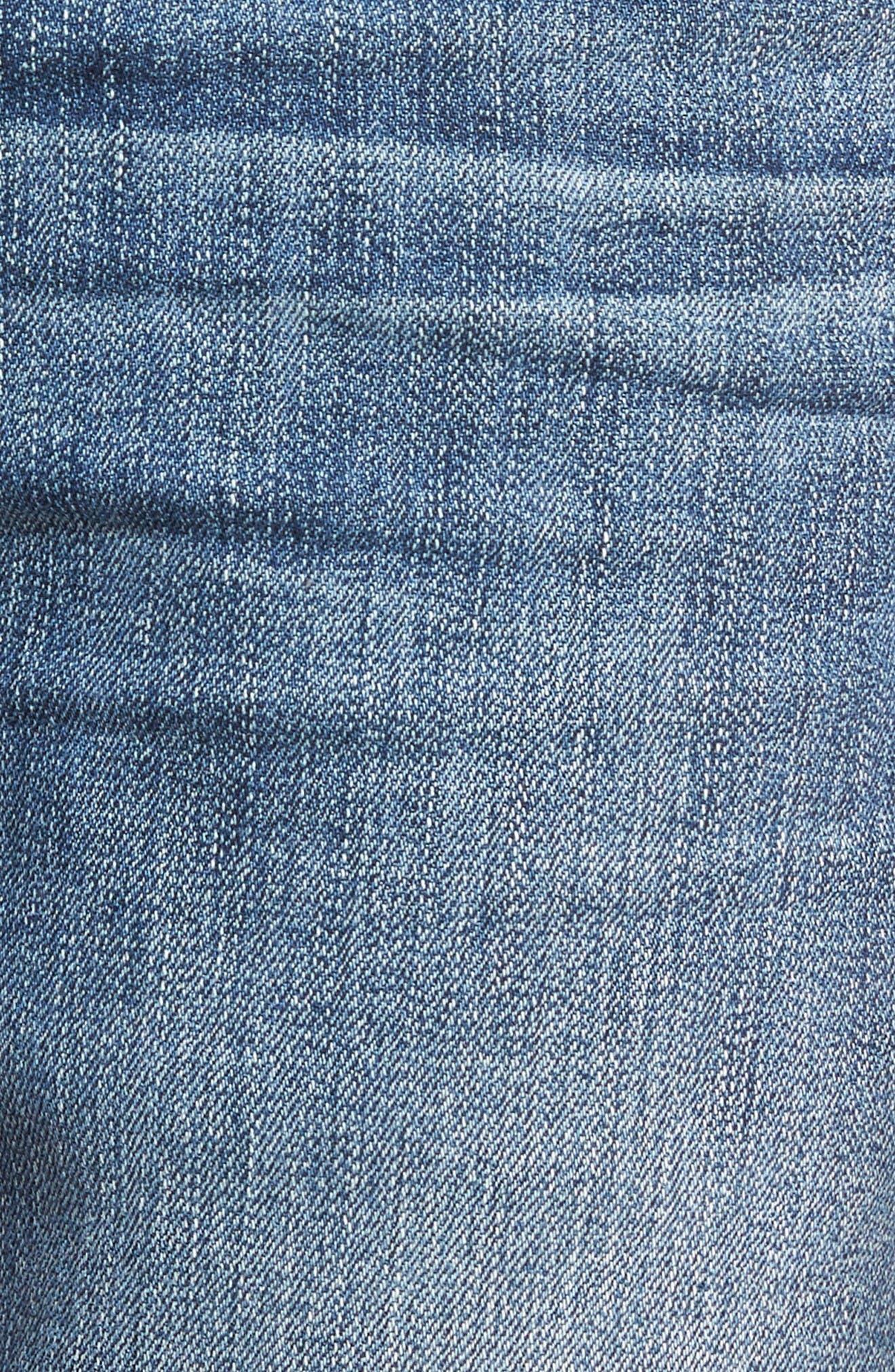 Alternate Image 6  - PAIGE Normandie Straight Leg Jeans (Gibbs)