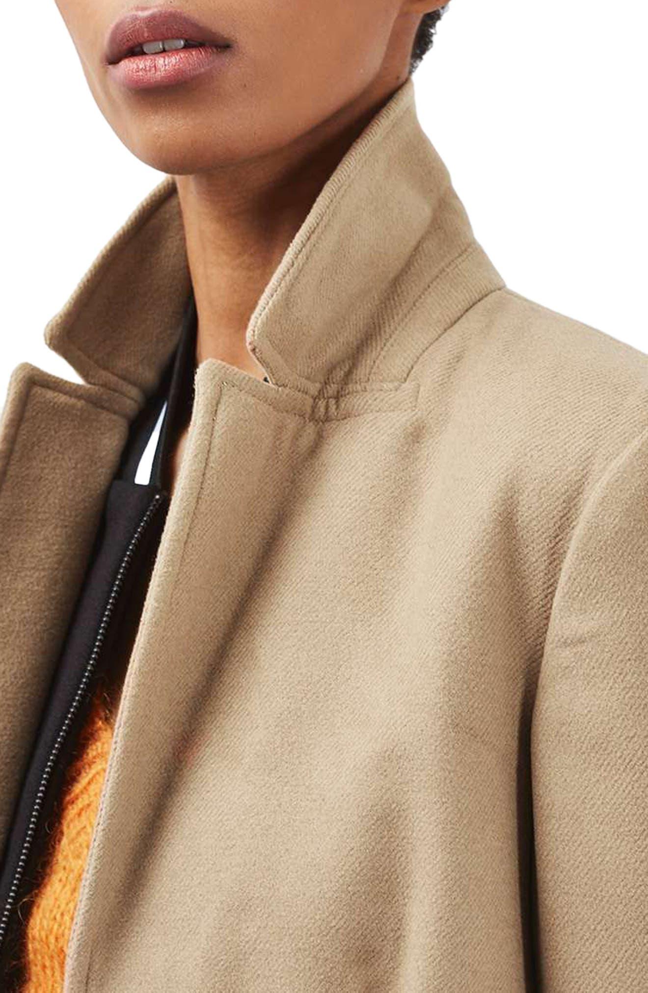 Alternate Image 5  - Topshop Meg Boyfriend Coat (Regular & Petite)