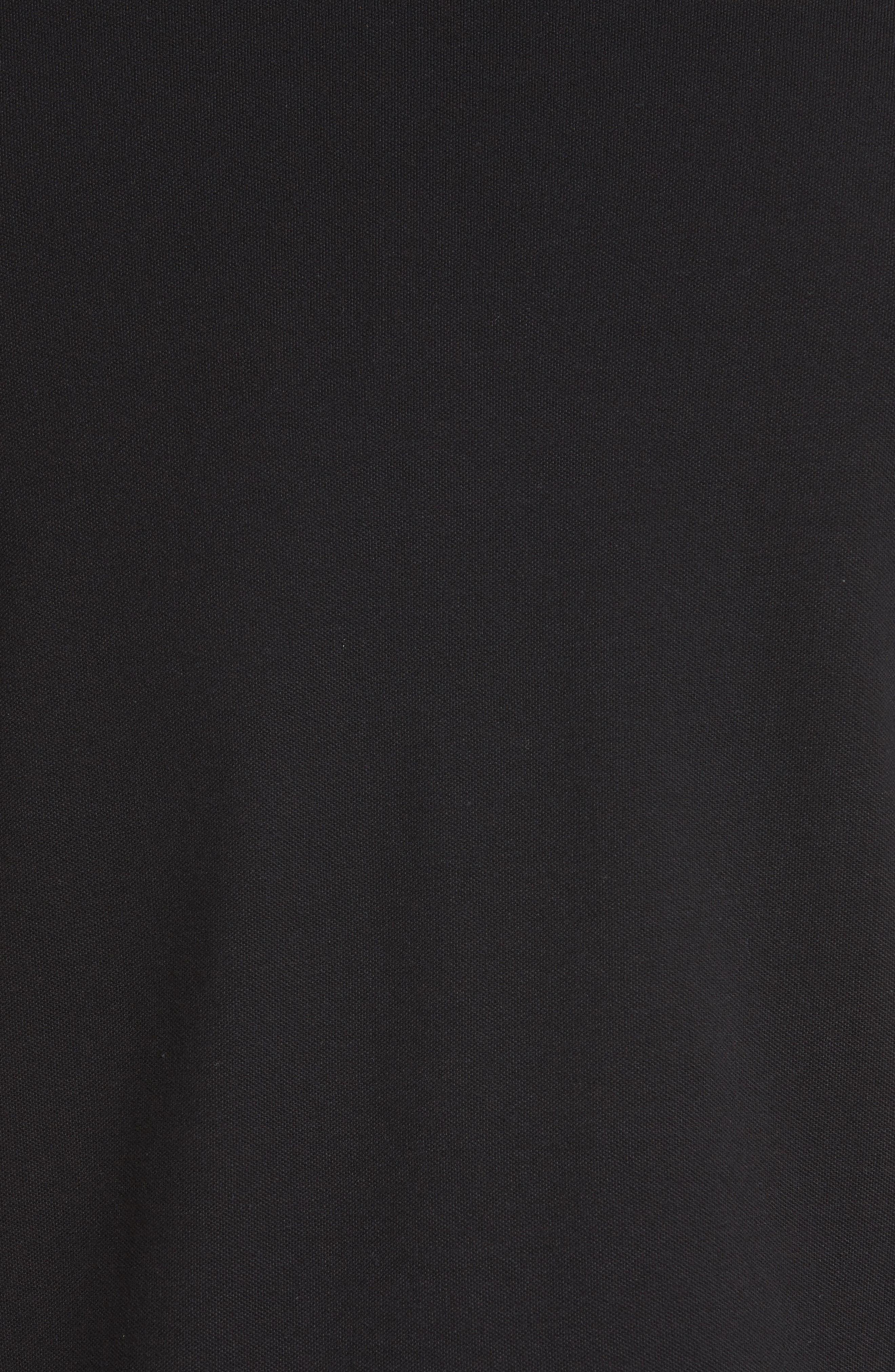 SPORT Pipe Trim Band Collar Piqué Polo,                             Alternate thumbnail 5, color,                             Black/ Grey
