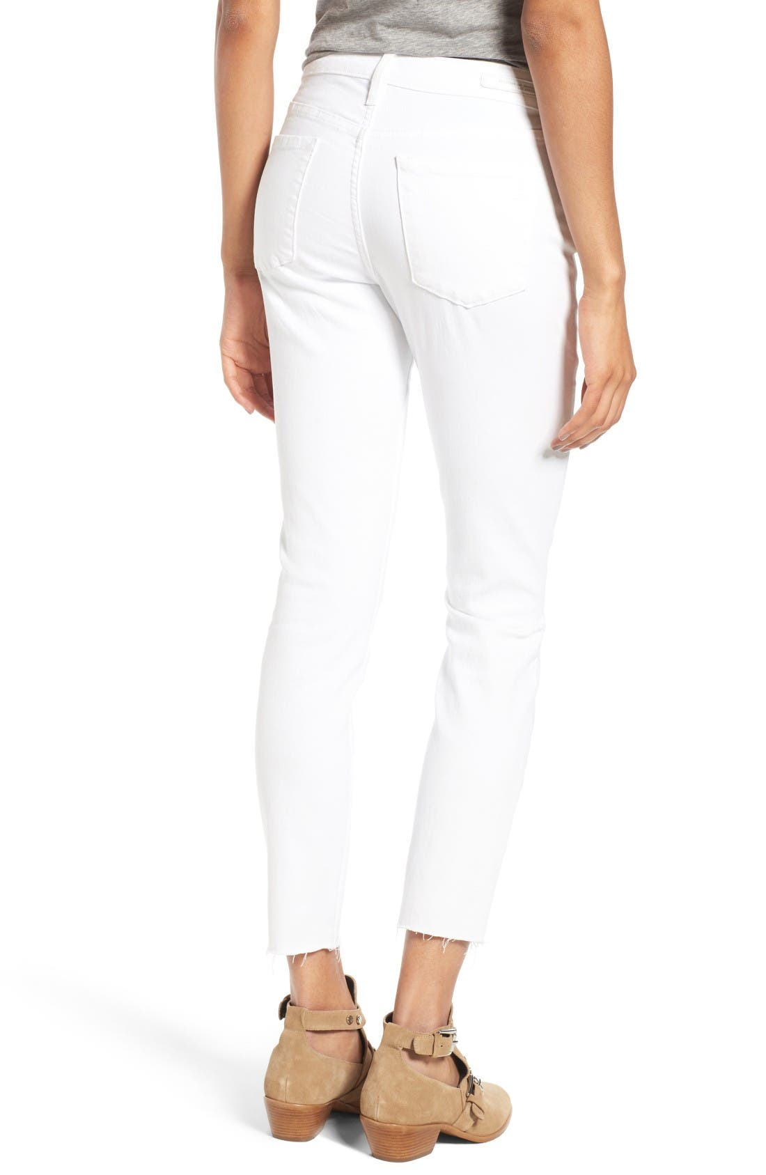 Alternate Image 2  - Articles of Society Carly Skinny Crop Jeans (Whiteout)