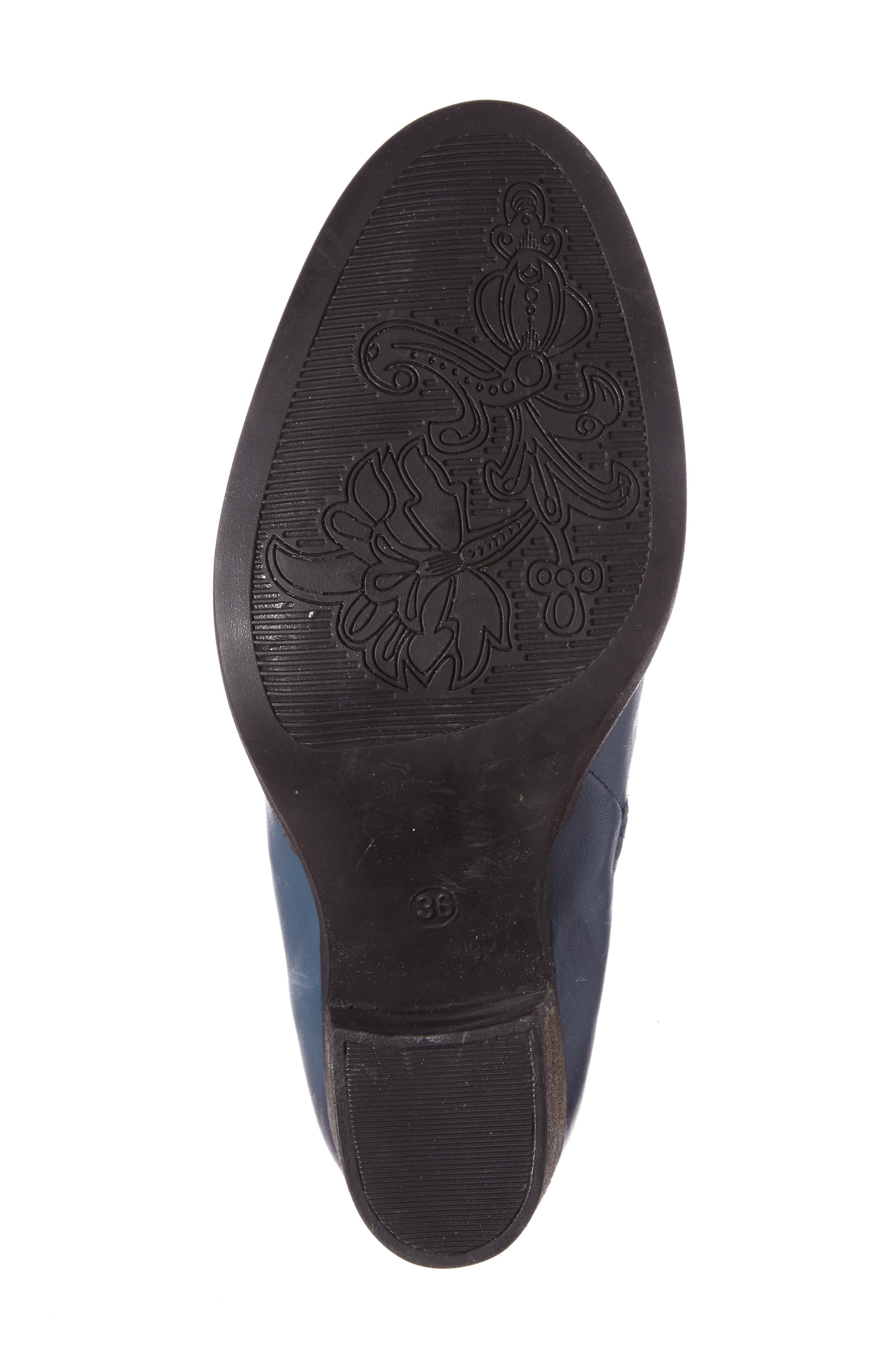 Belfielding Waterproof Chelsea Boot,                             Alternate thumbnail 4, color,                             Jeans/ Black Leather
