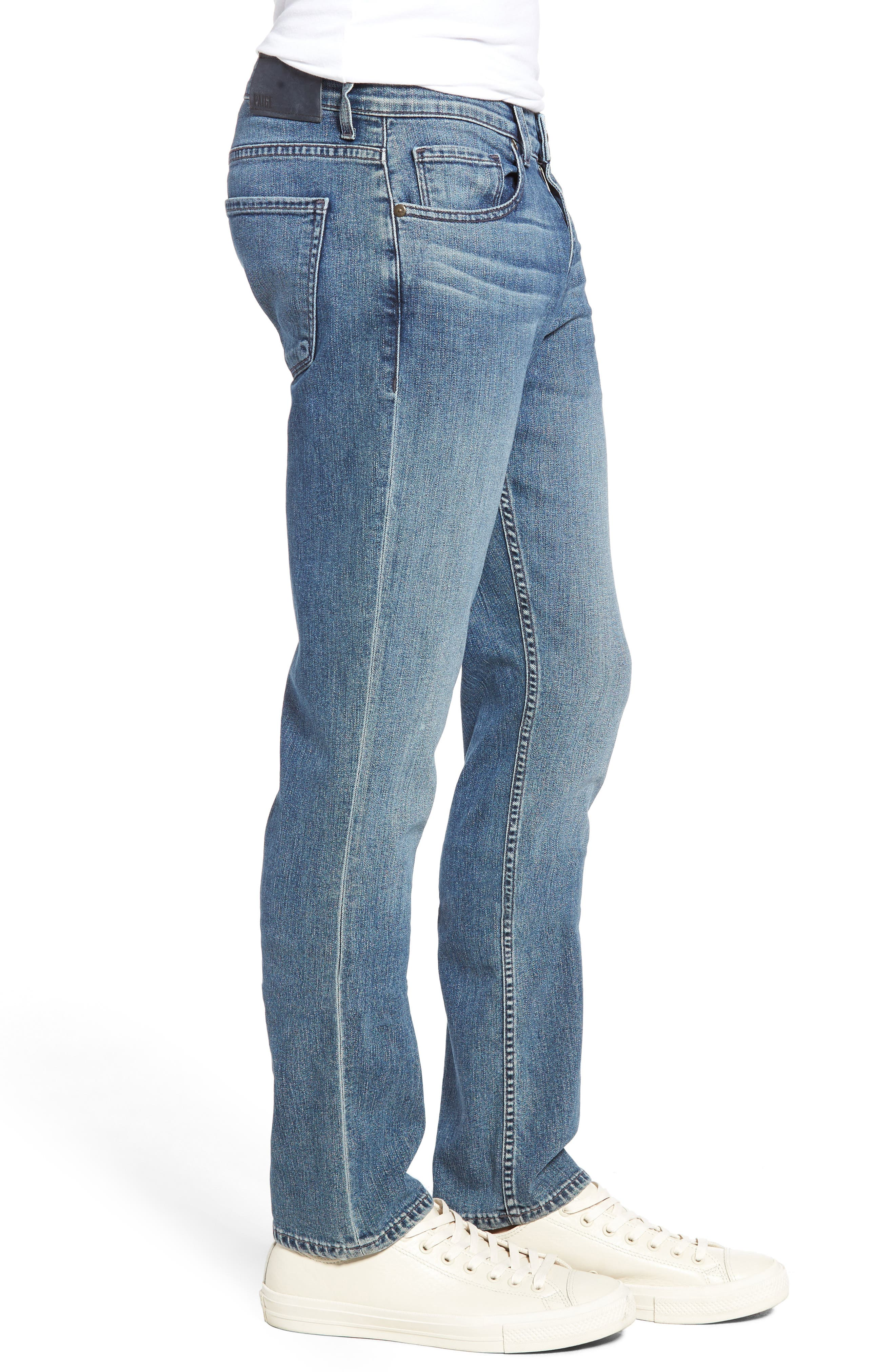 Alternate Image 3  - PAIGE Normandie Straight Leg Jeans (Gibbs)