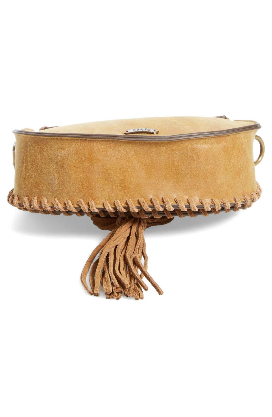 Alternate Image 4  - Elle & Jae Gypset Mini Madrid Faux Leather Top Handle Saddle Bag