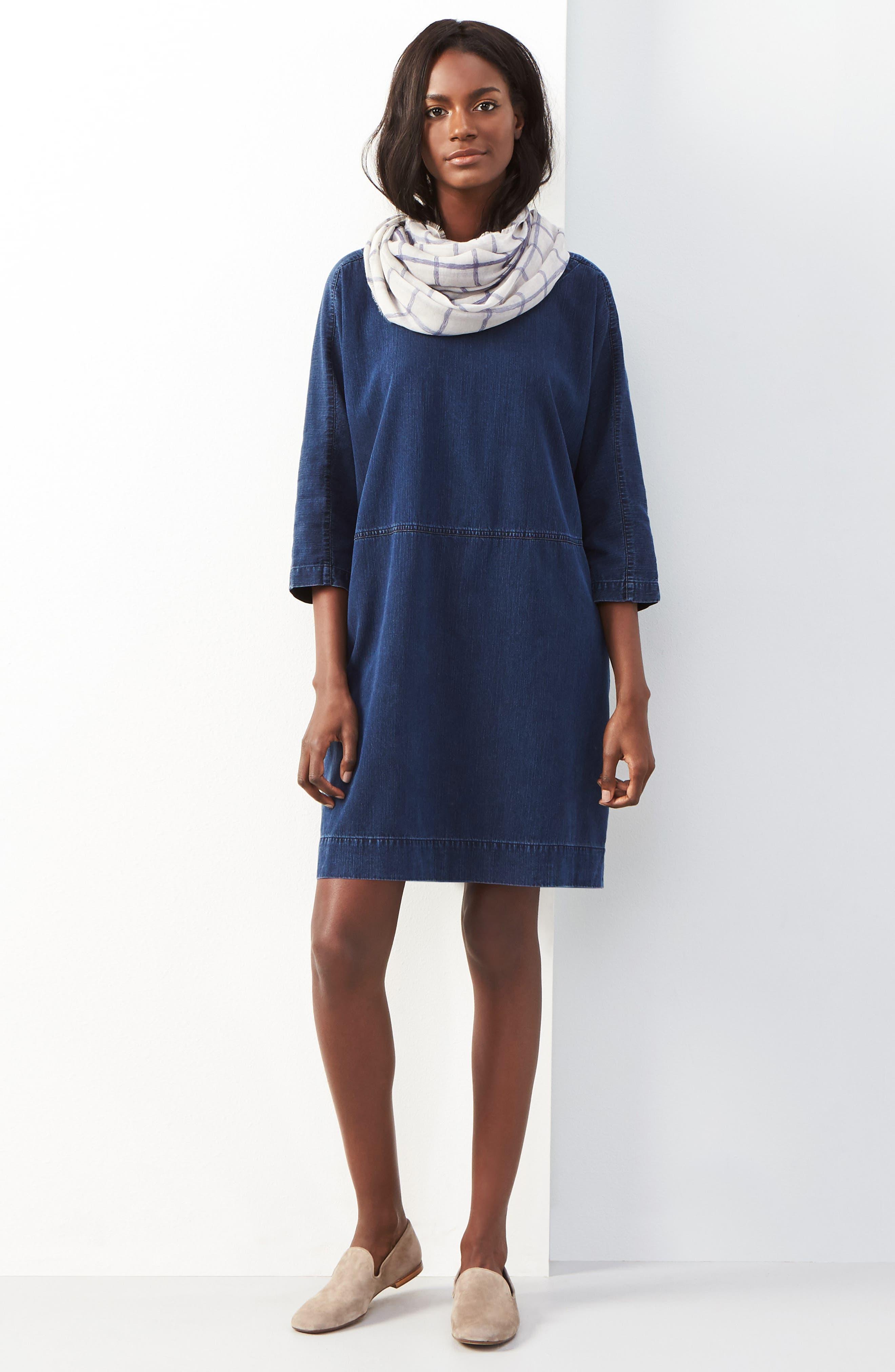 Alternate Image 2  - Eileen Fisher Denim Shift Dress