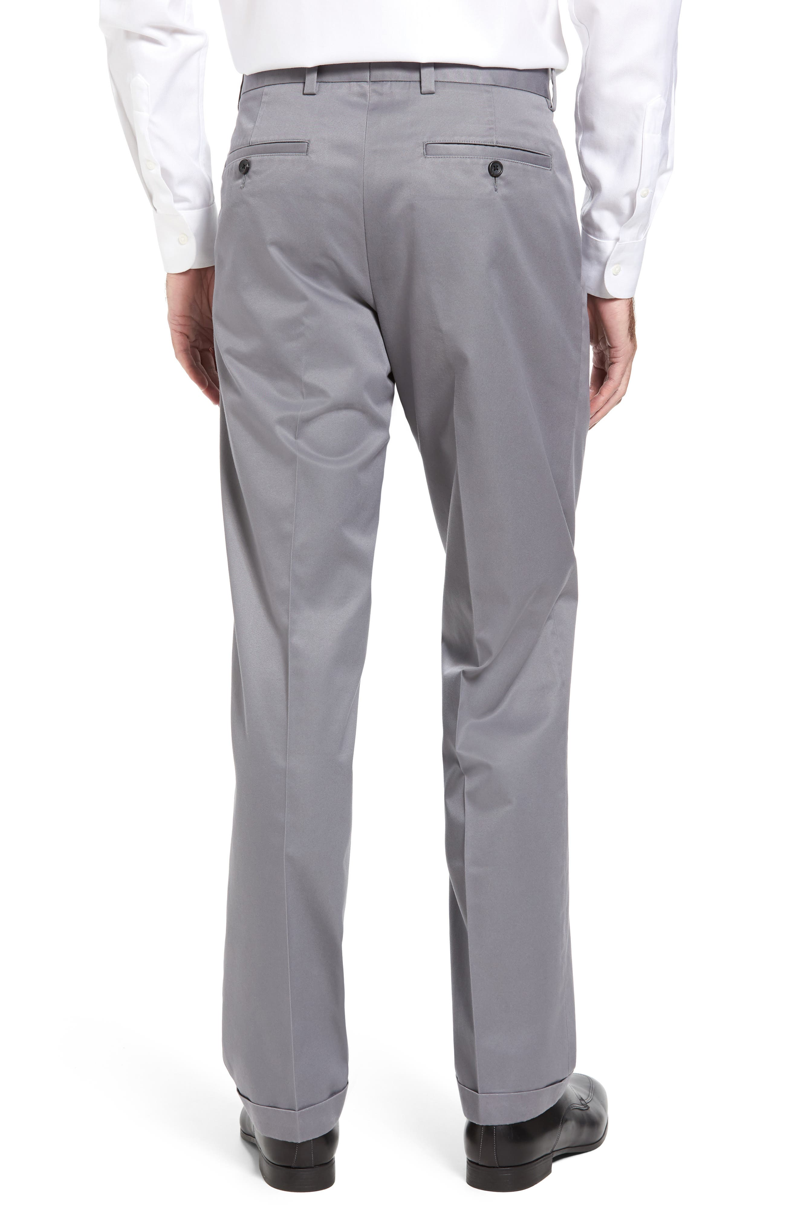 Classic Smartcare<sup>™</sup> Supima<sup>®</sup> Cotton Pleated Trousers,                             Alternate thumbnail 2, color,                             Grey Shade