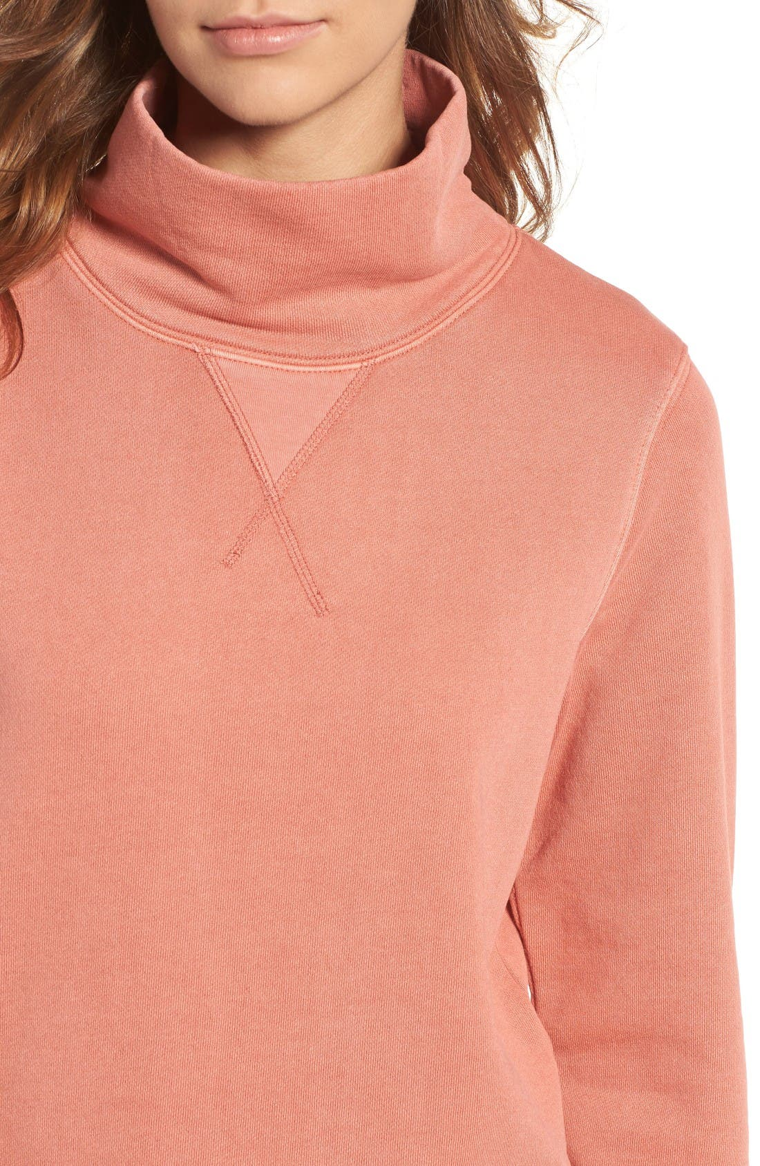 Alternate Image 4  - Madewell Garment Dyed Funnel Neck Sweatshirt