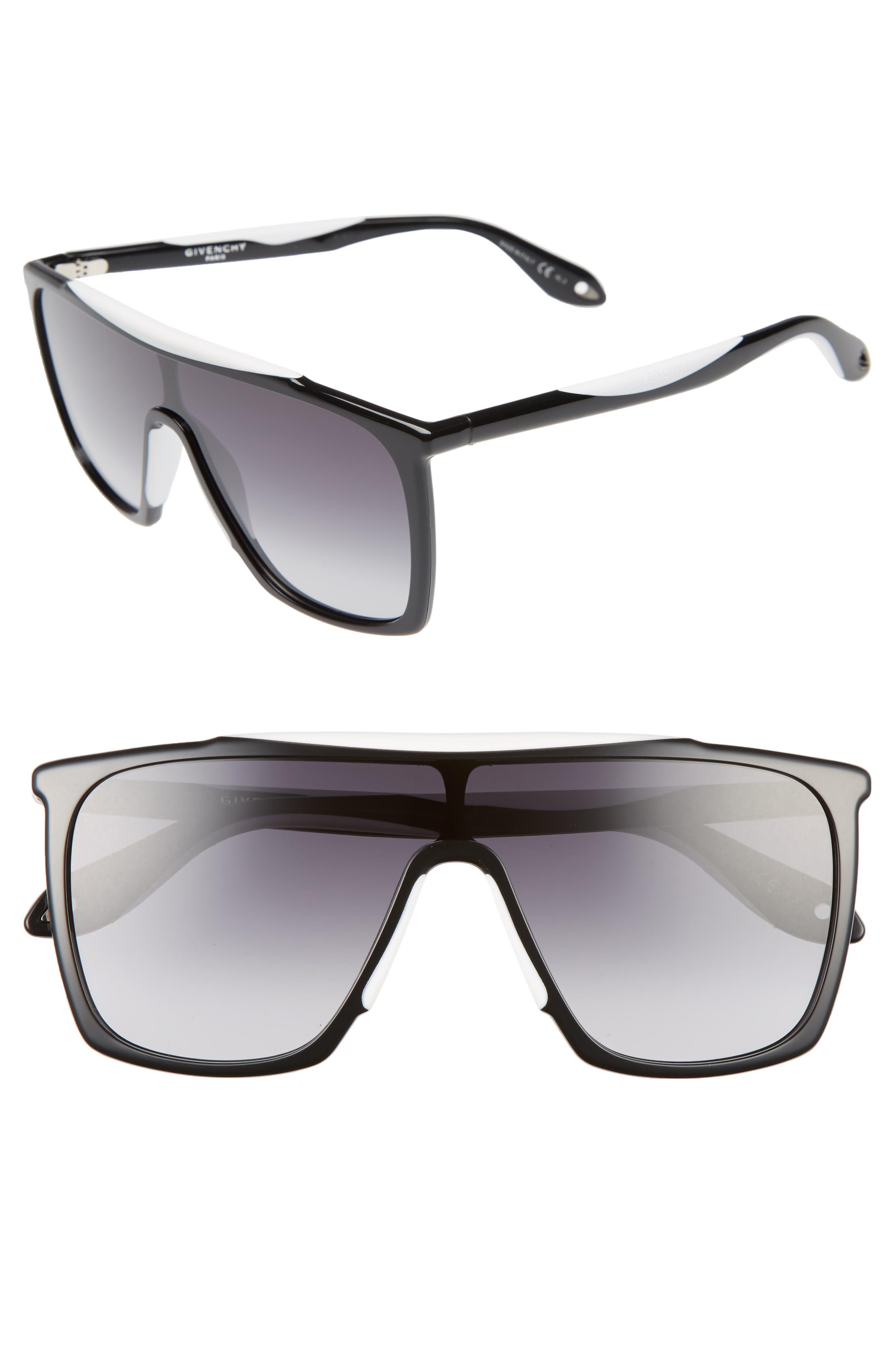 53mm Mask Sunglasses,                         Main,                         color, Black/ White