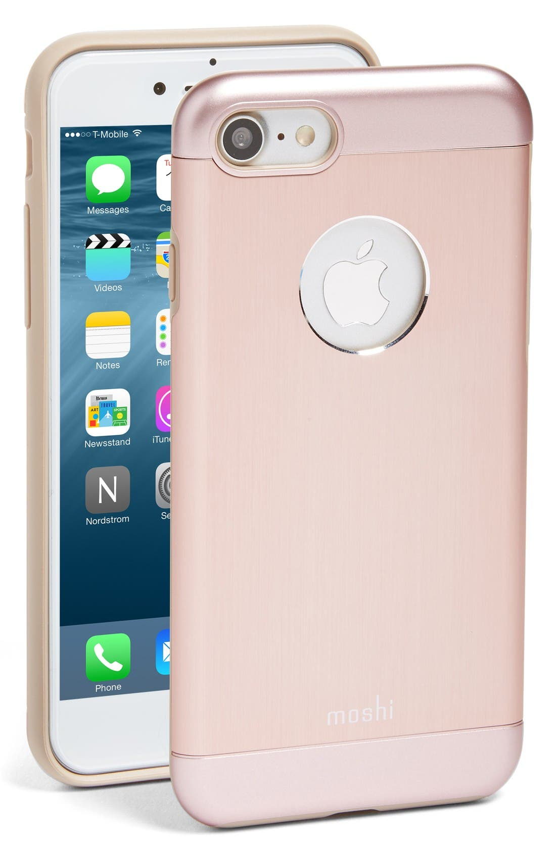 iGlaze Armour iPhone 7/8 Case,                         Main,                         color, Rose Gold