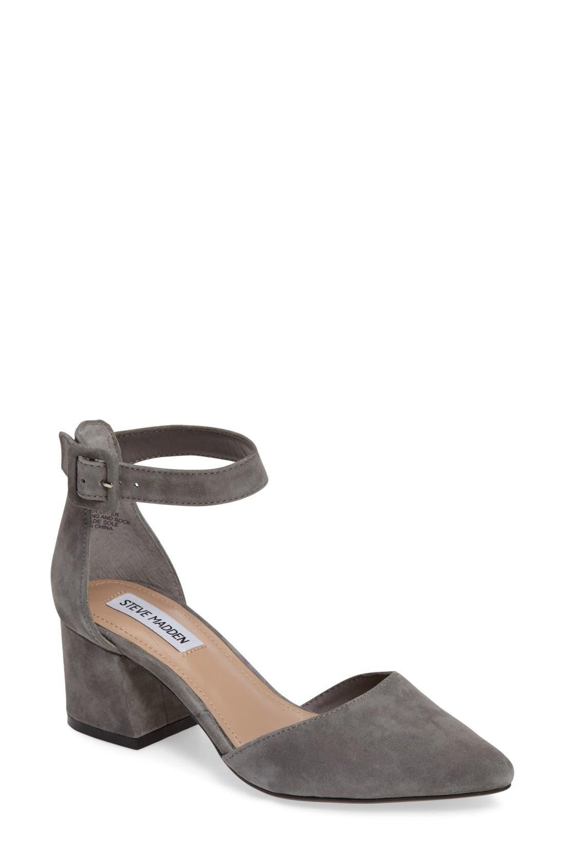 Main Image - Steve Madden Dainna d'Orsay Ankle Strap Pump (Women)
