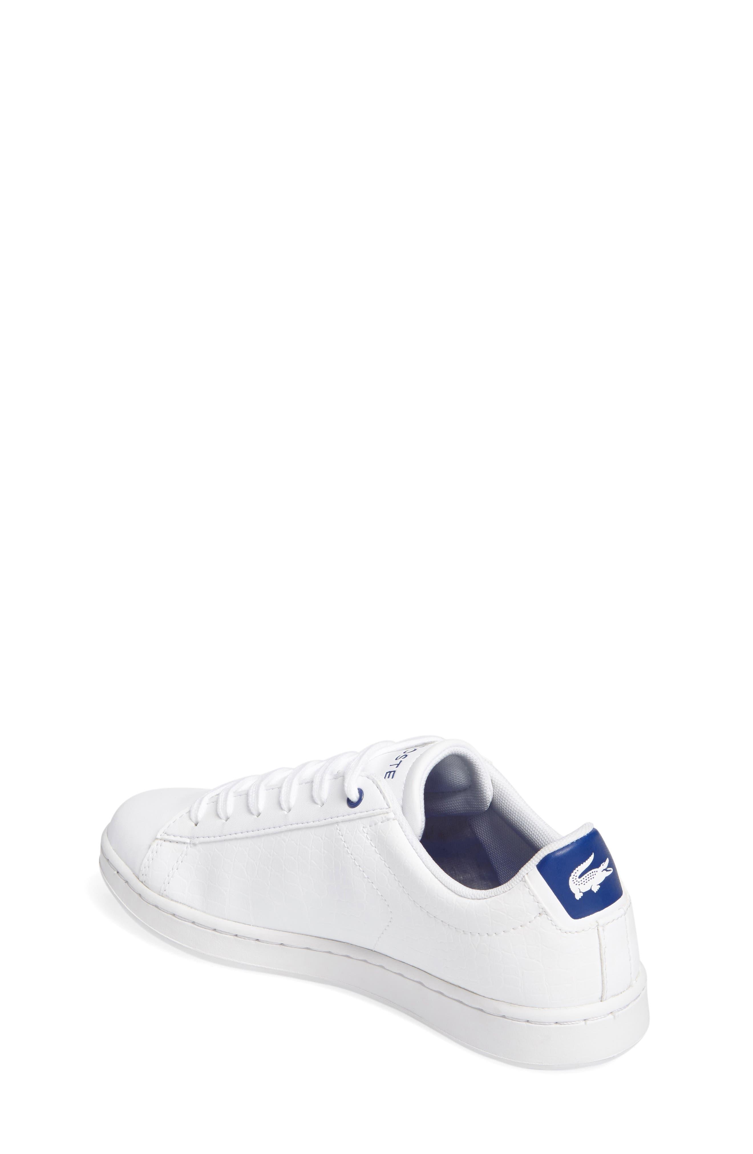 Carnaby EVO Sneaker,                             Alternate thumbnail 2, color,                             White/ Blue