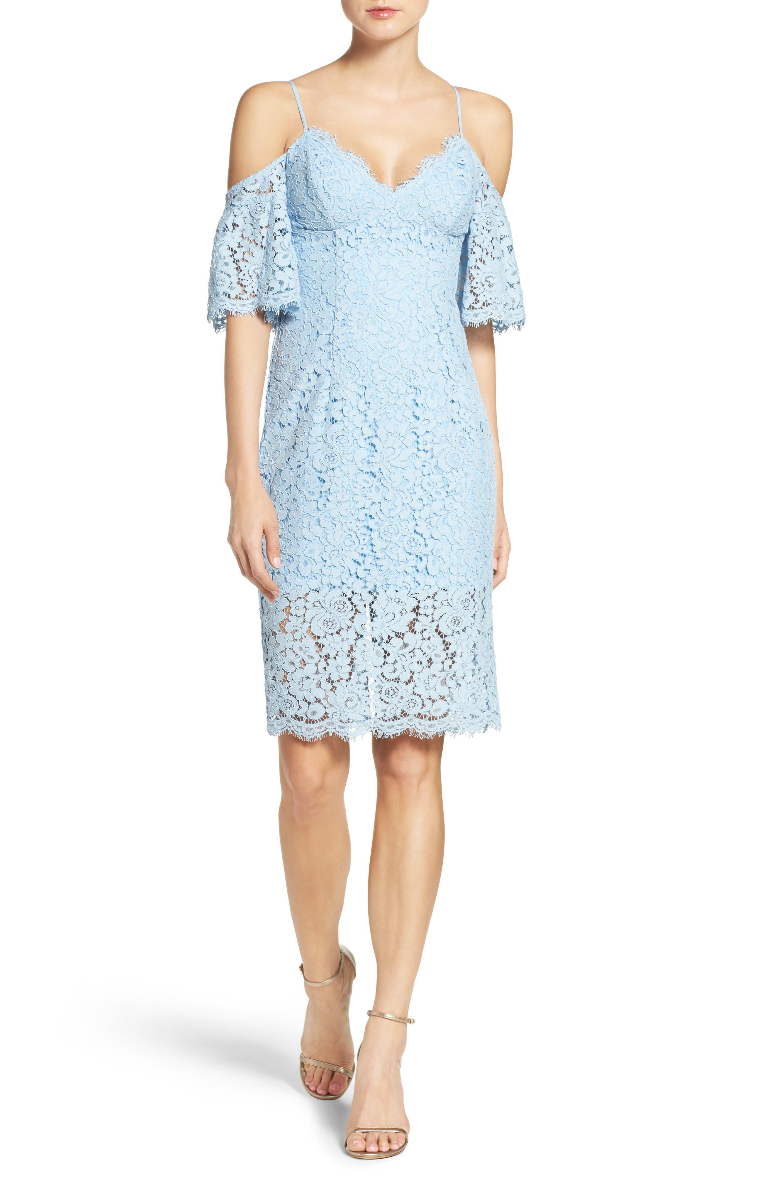 Alternate Image 1 Selected - Bardot Karlie Cold Shoulder Lace Dress