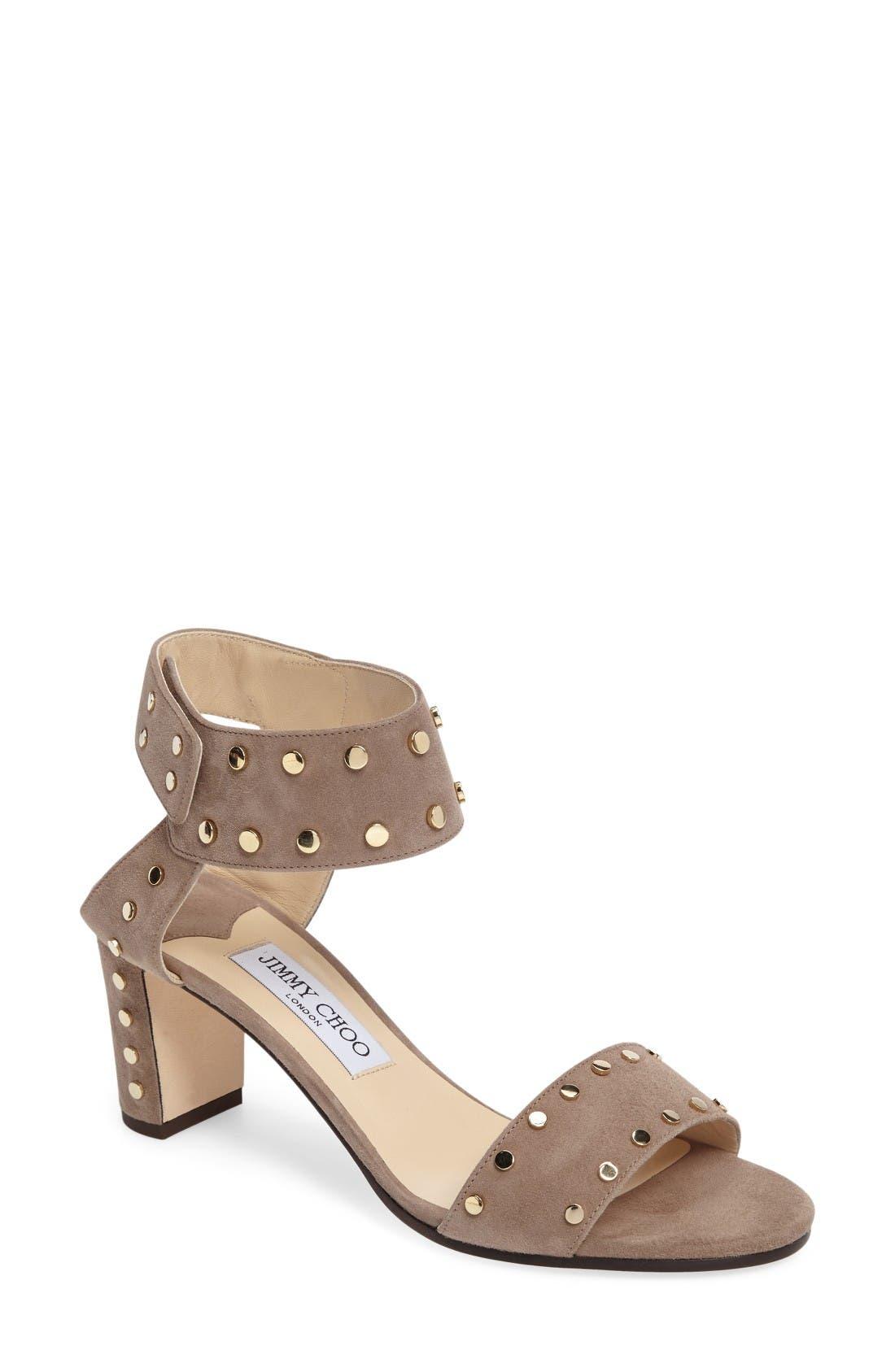 Alternate Image 1 Selected - Jimmy Choo 'Veto' Studded Sandal (Women)
