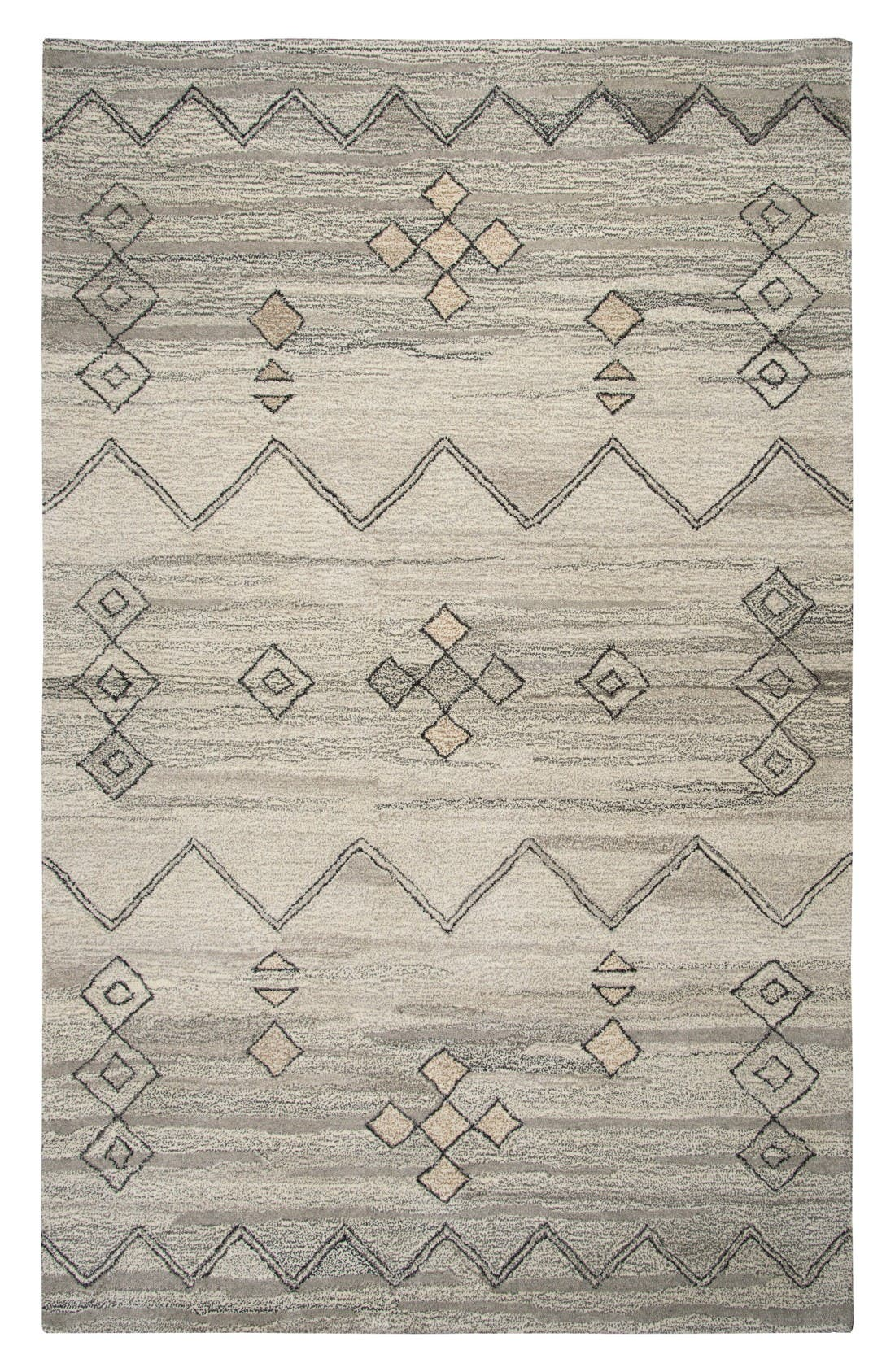 Desert Plains Hand Tufted Wool Area Rug,                             Main thumbnail 1, color,                             Grey