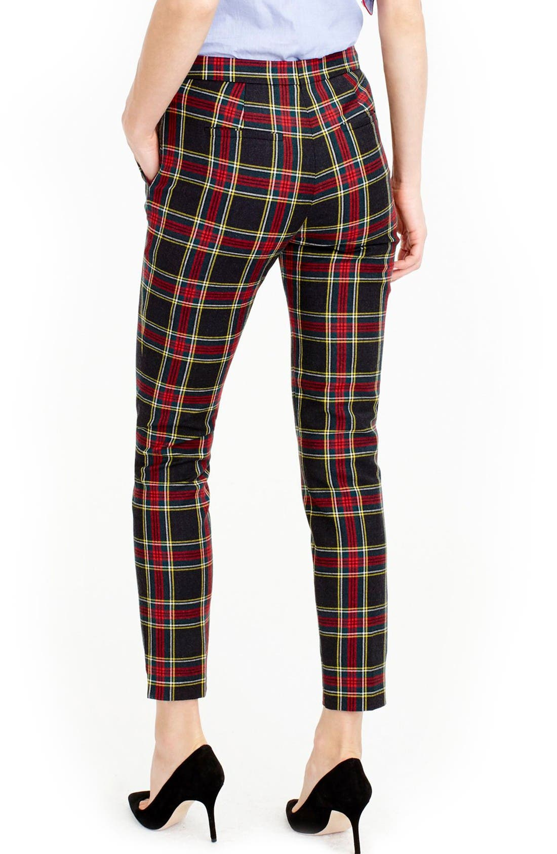 Alternate Image 2  - J.Crew Martie Stewart Plaid Stretch Wool Pants (Regular & Petite)