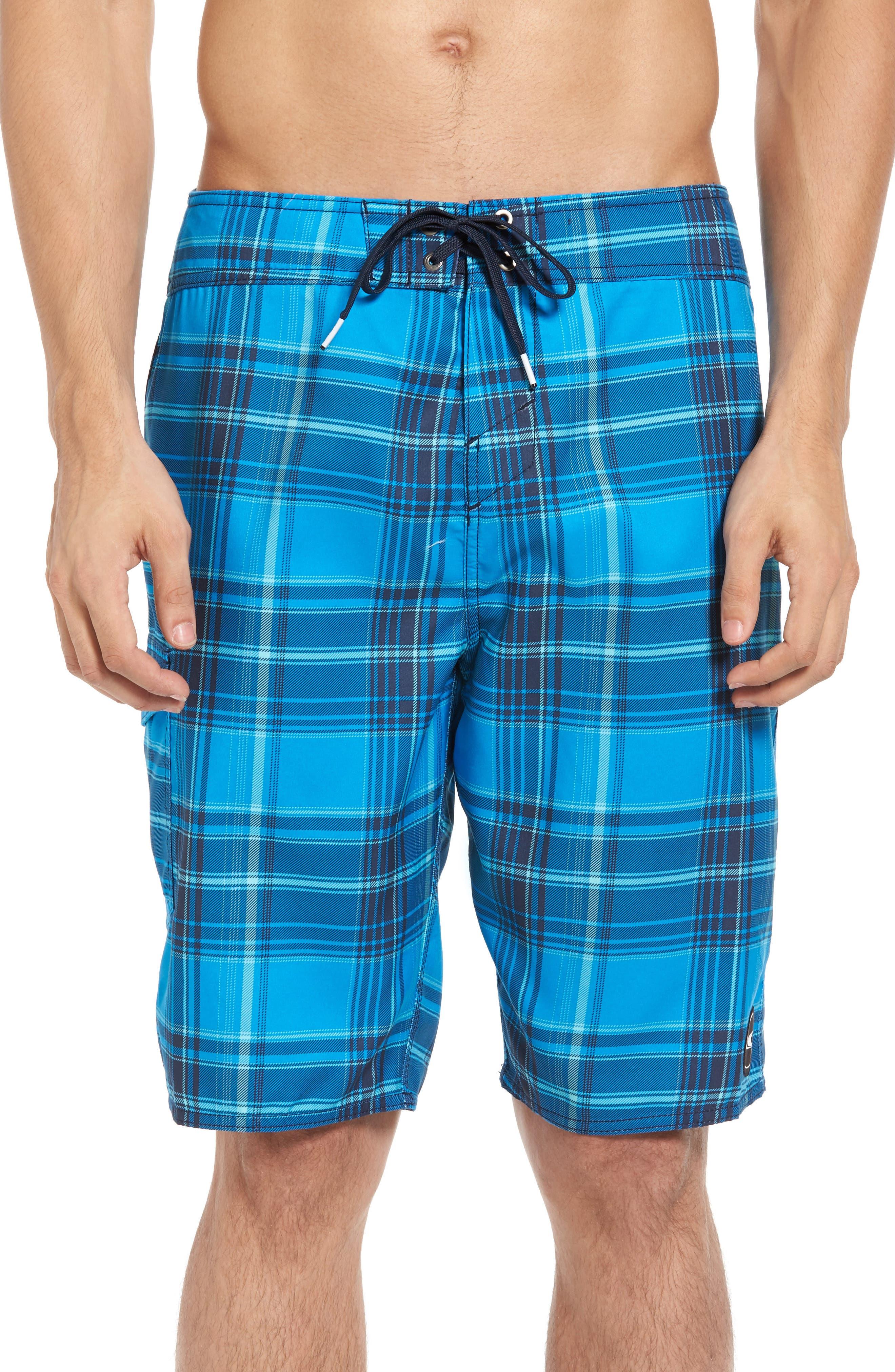 O'Neill Santa Cruz Plaid Board Shorts