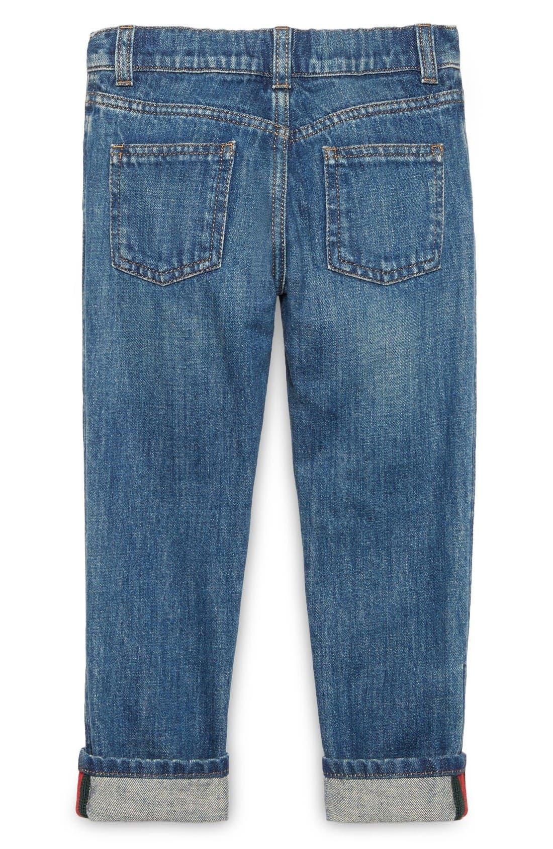 Straight Leg Jeans,                             Alternate thumbnail 2, color,                             Orbit Multi