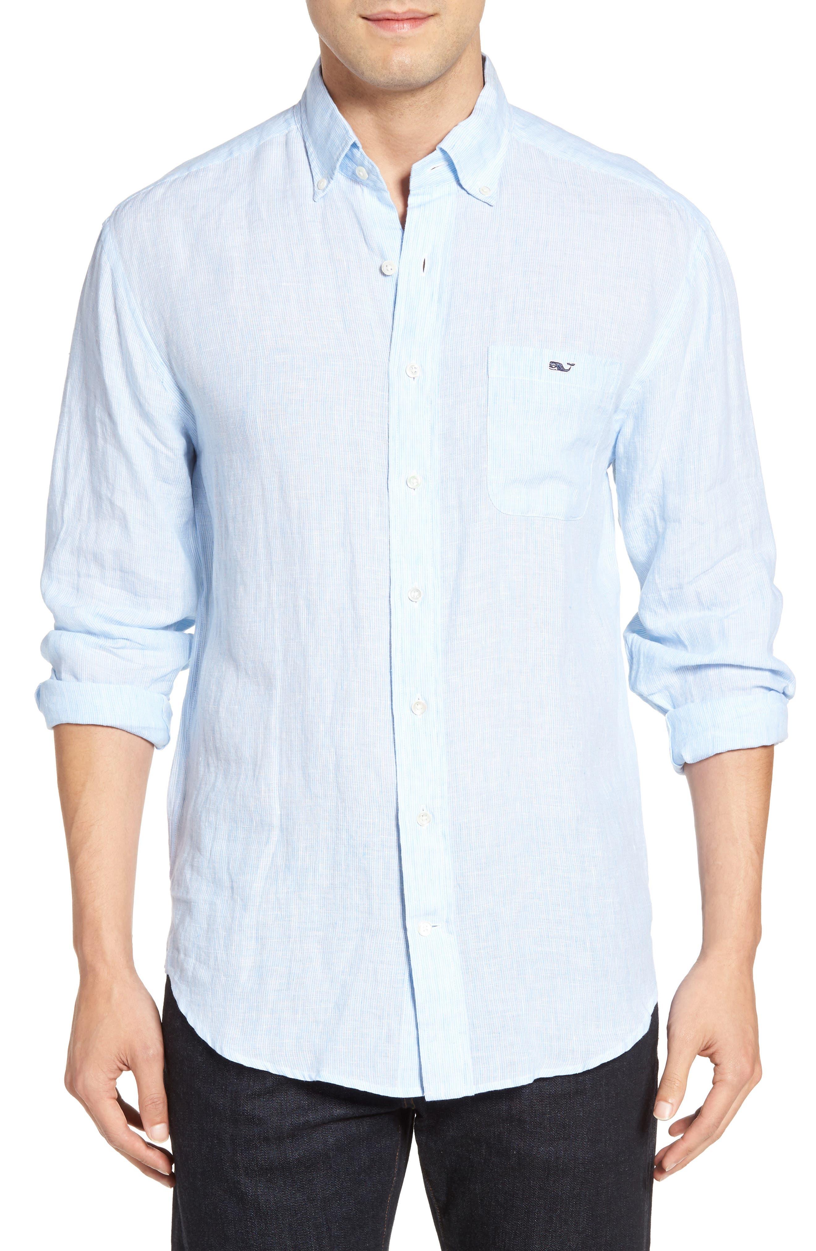 Vineyard Vines Slim Fit Tucker Linen Sport Shirt