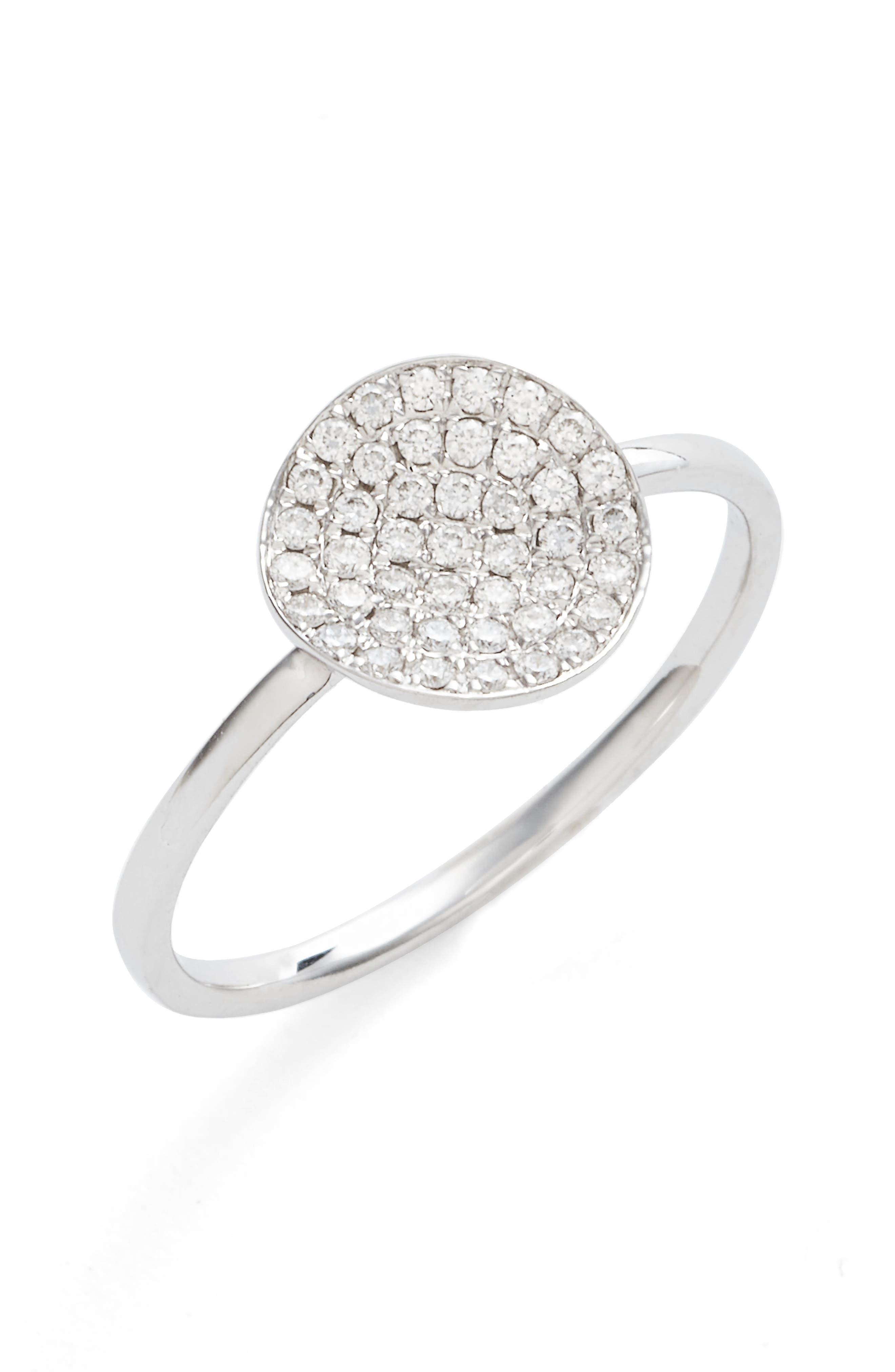 BONY LEVY Aurelia Small Diamond Concave Ring