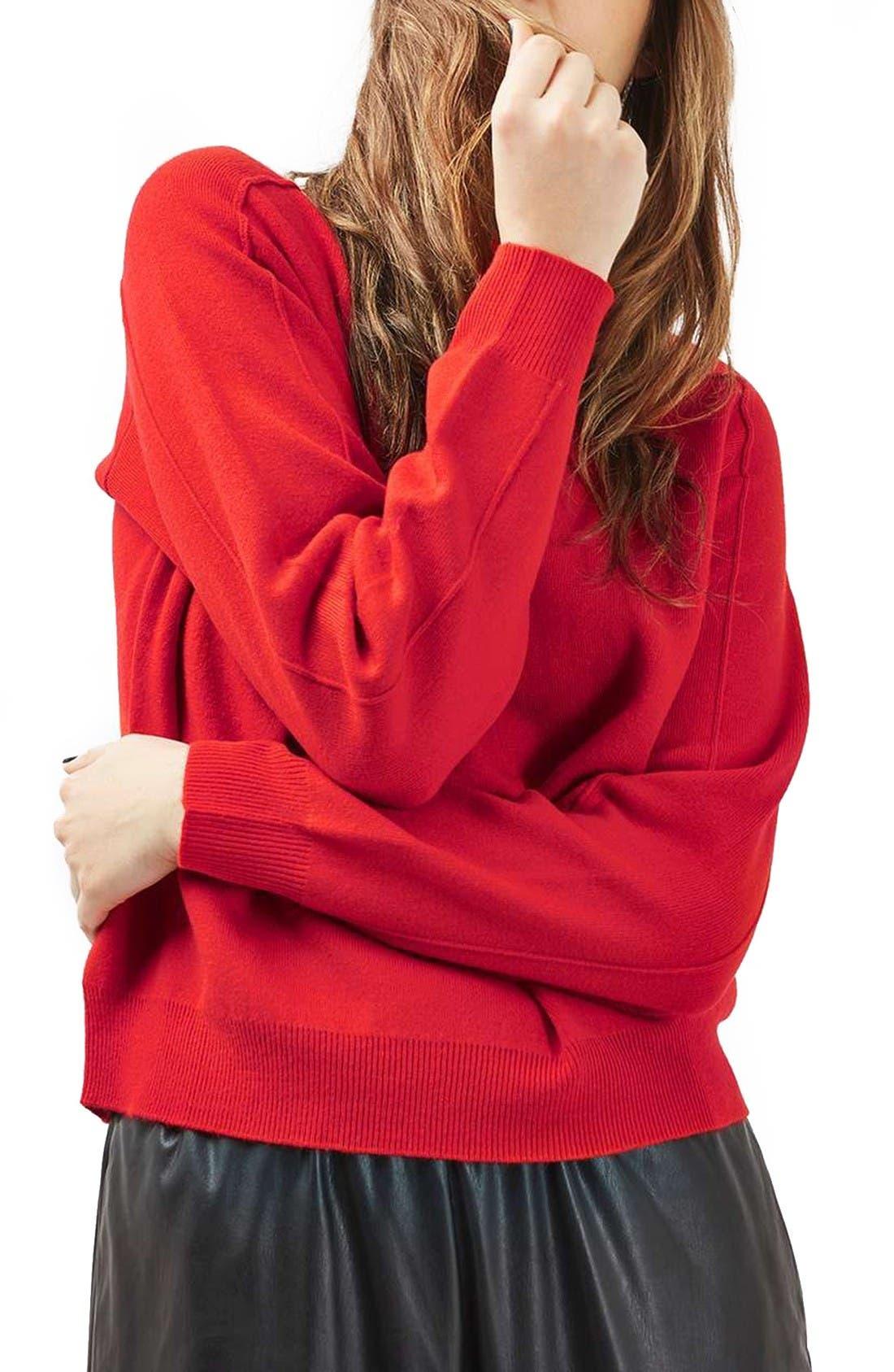 Alternate Image 4  - Topshop Mock Neck Sweater