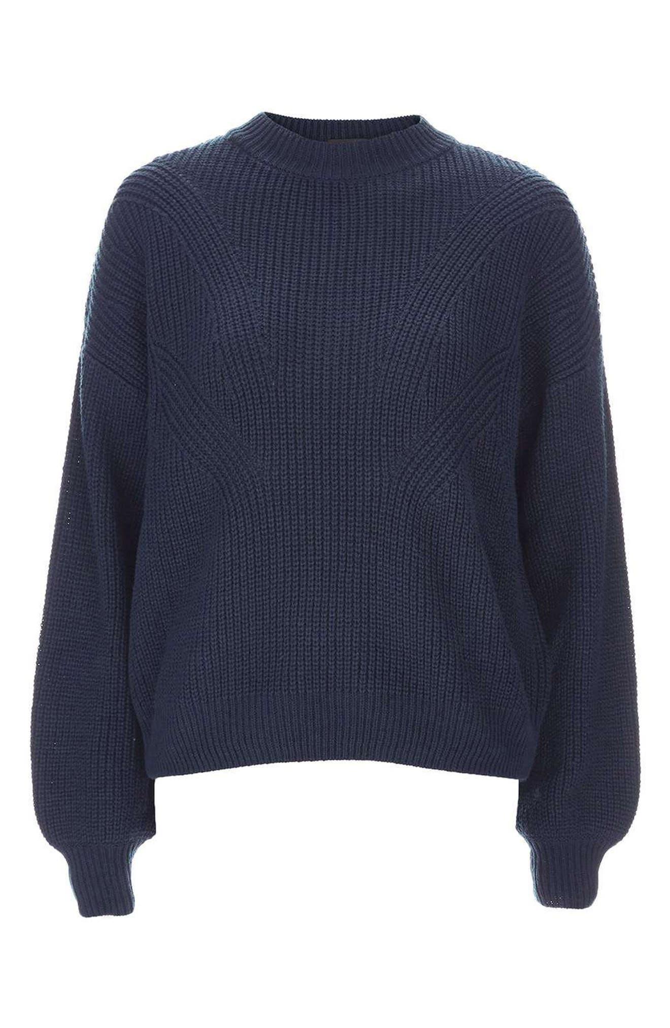 Alternate Image 4  - Topshop Blouson Sleeve Sweater