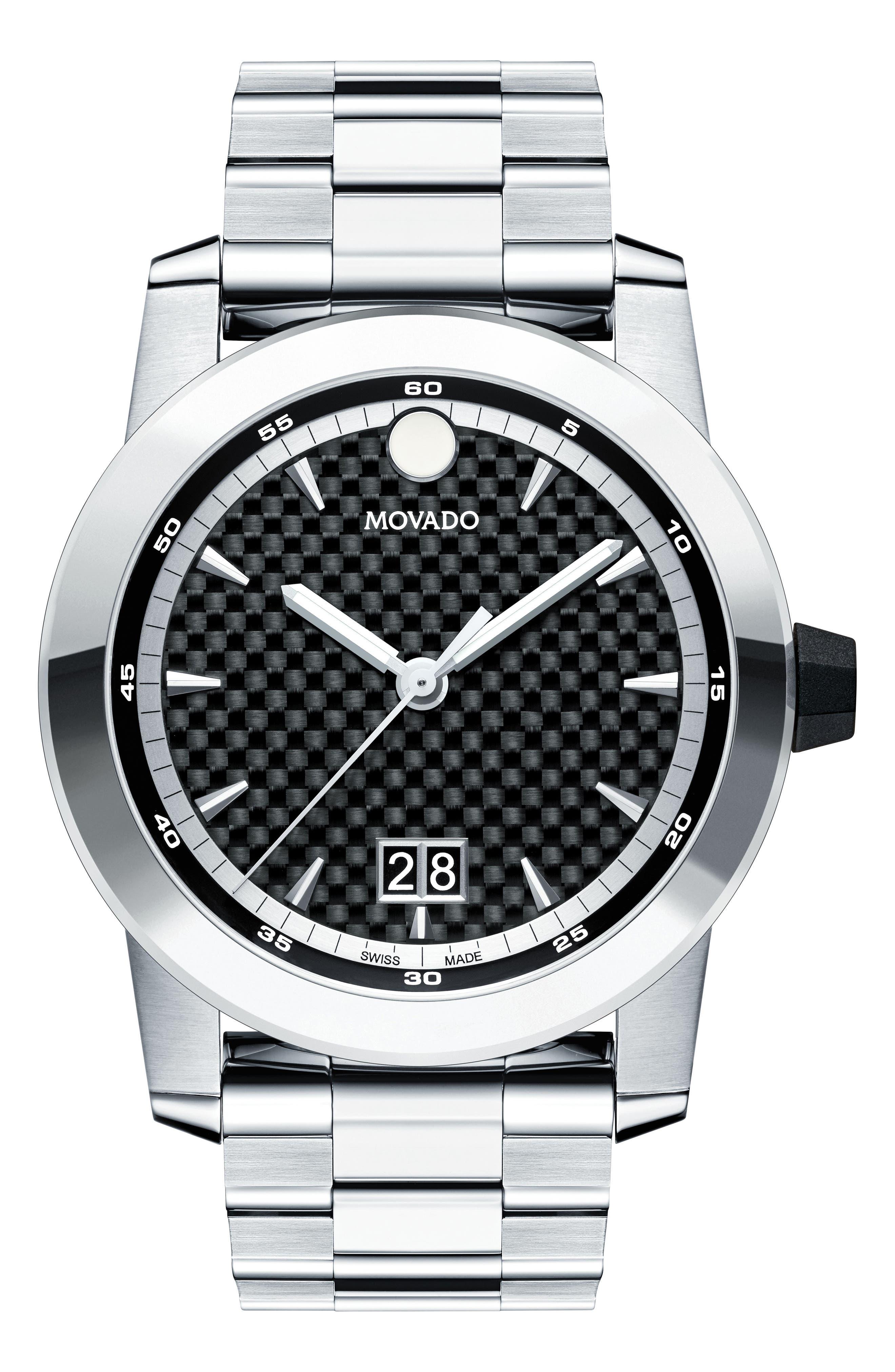Alternate Image 1 Selected - Movado Vizio Bracelet Watch, 44mm