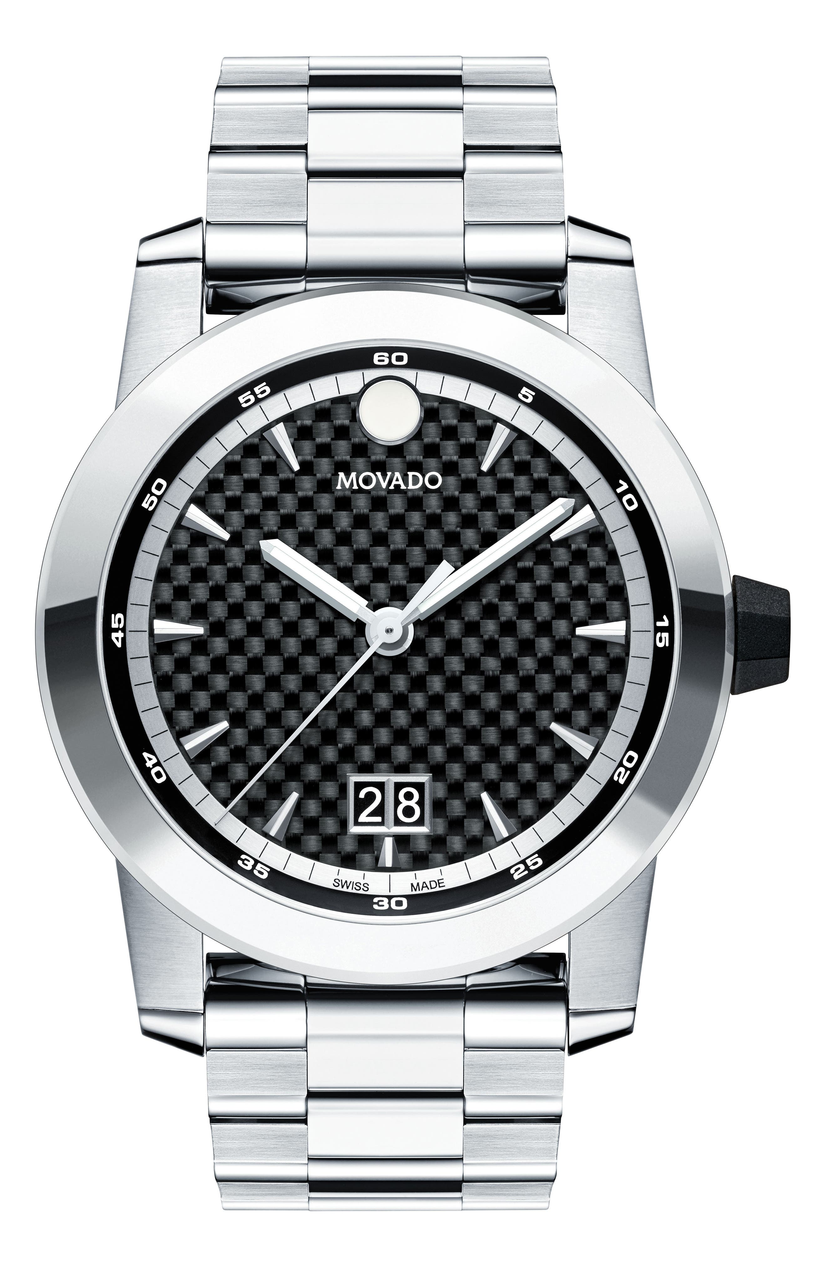 Main Image - Movado Vizio Bracelet Watch, 44mm