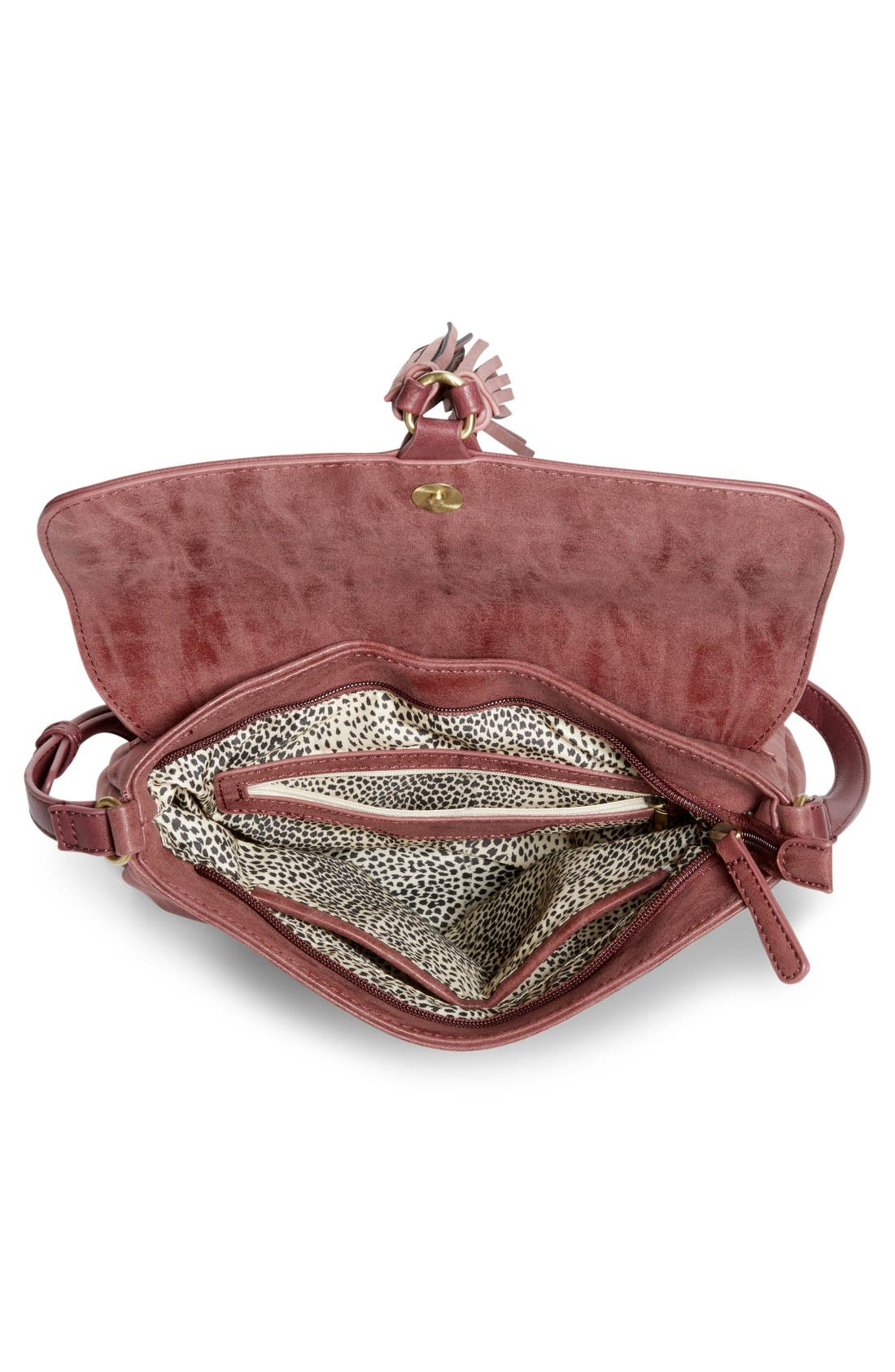 Alternate Image 4  - Emperia Saydie Tassel Faux Leather Crossbody Bag (Special Purchase)