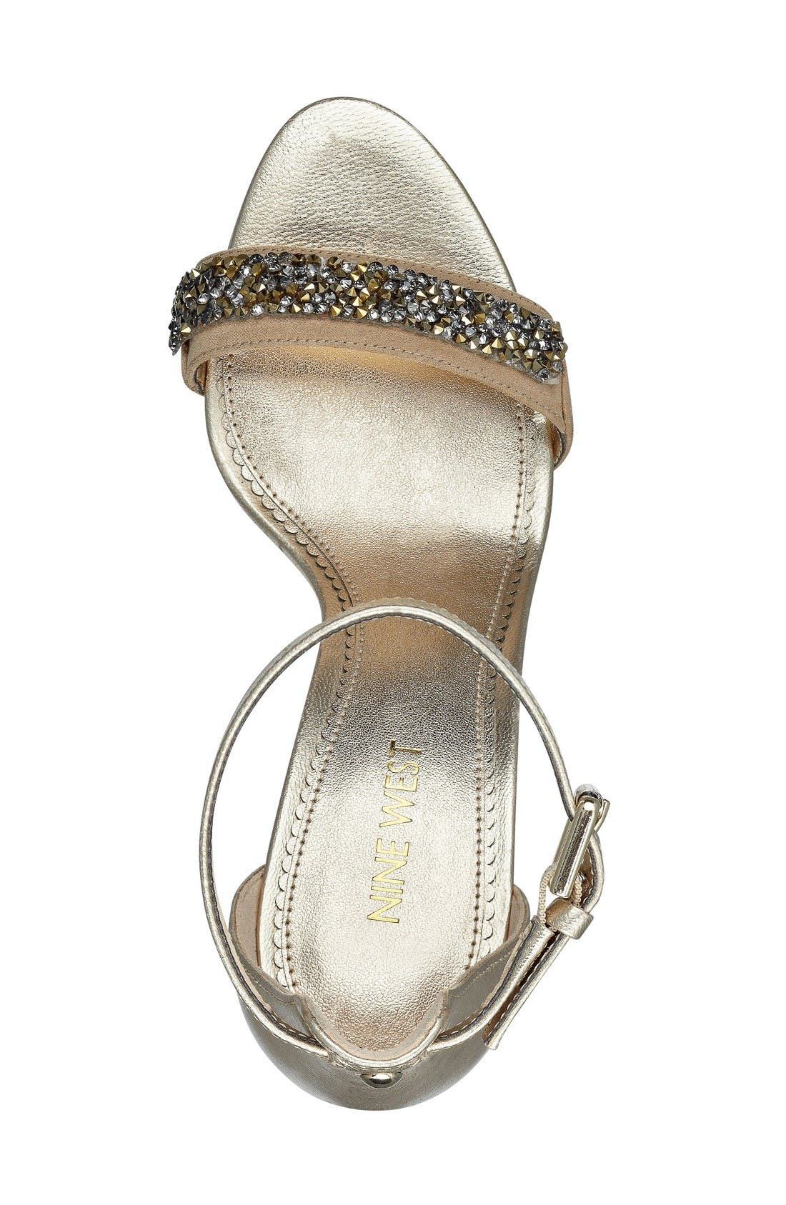 Alternate Image 3  - Nine West 'Mana' Ankle Strap Sandal (Women)
