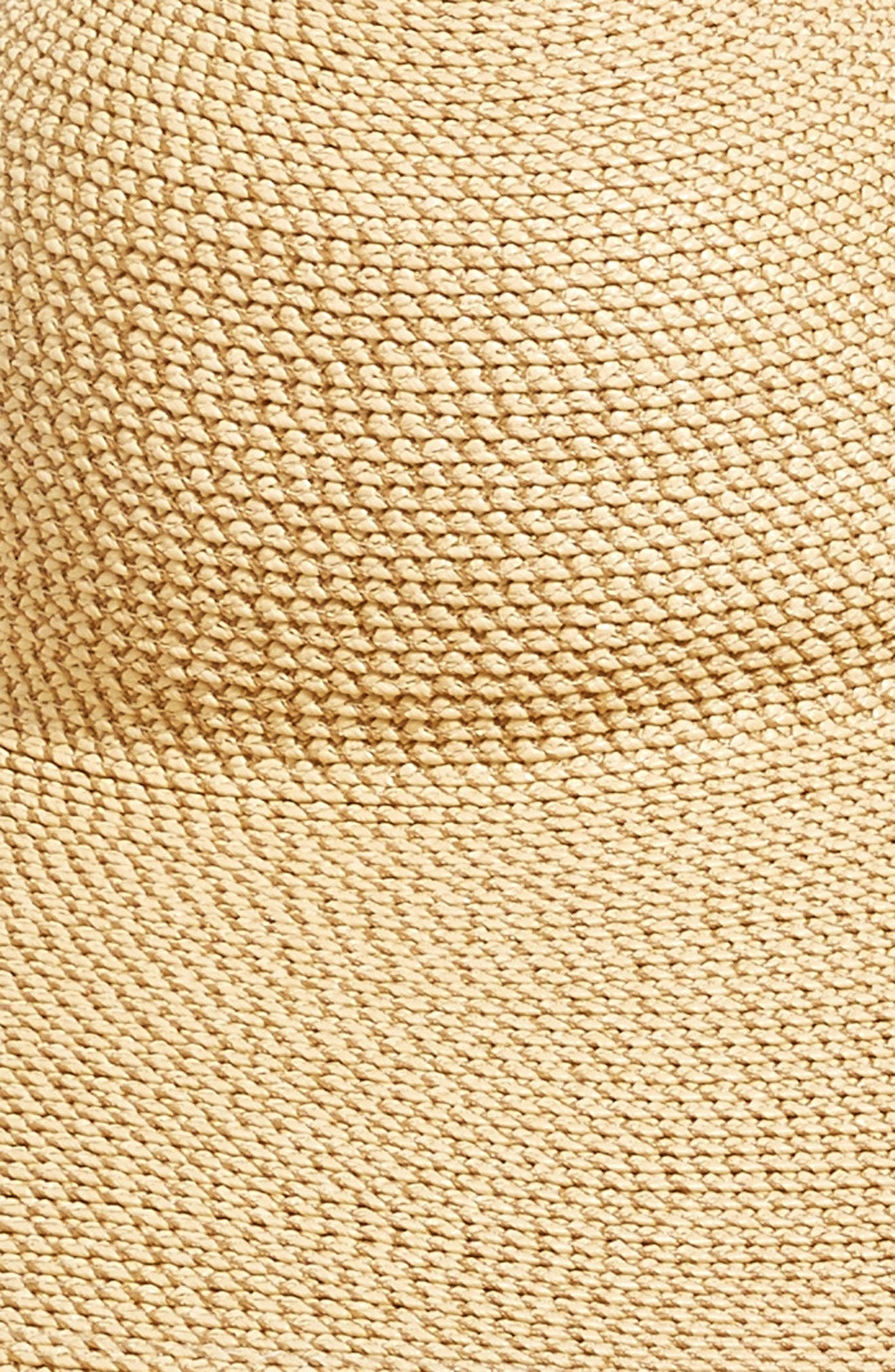 Fringed Squishee<sup>®</sup> Packable Floppy Hat,                             Alternate thumbnail 3, color,                             Peanut