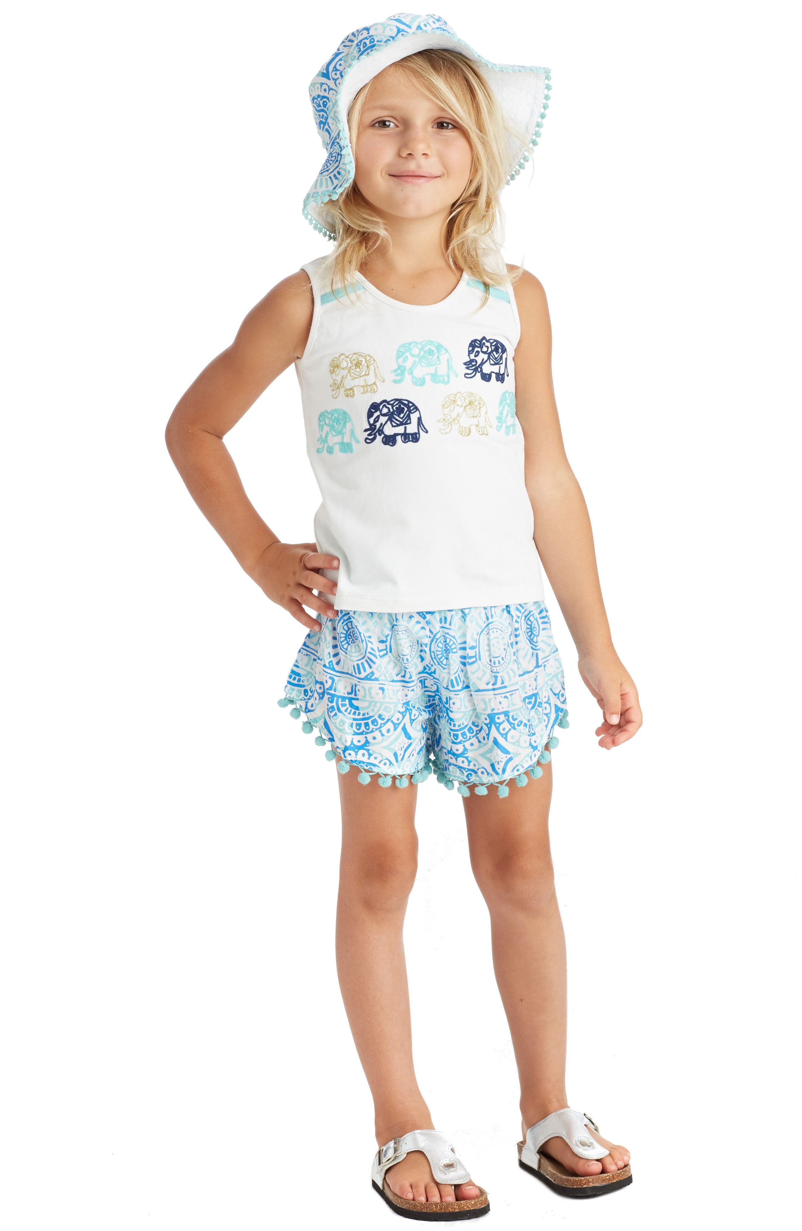 Alternate Image 2  - Masalababy Pompom Shorts (Toddler Girls, Little Girls & Big Girls)
