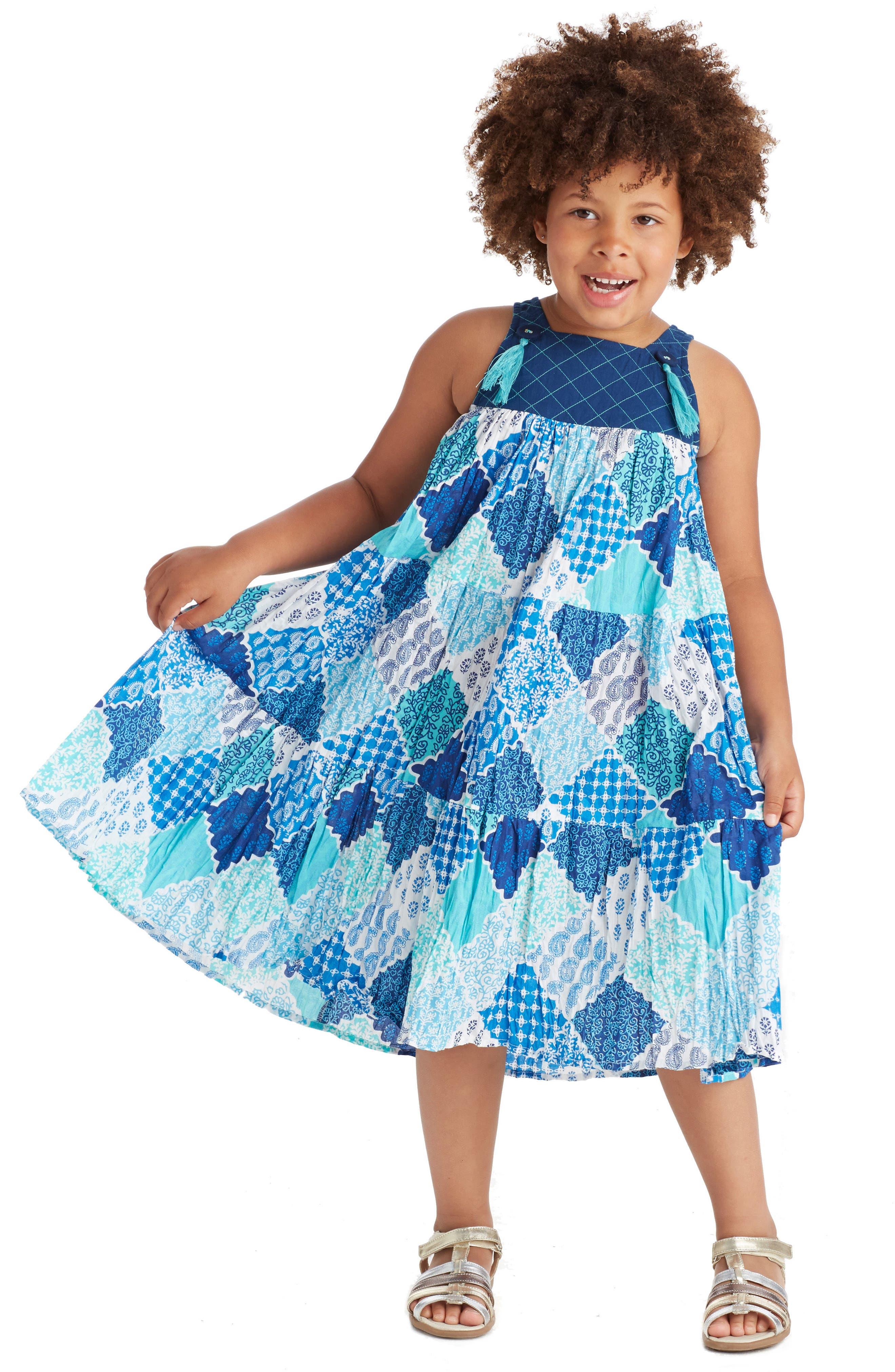 Alternate Image 2  - Masalababy Ayu Dress (Toddler Girls, Little Girls & Big Girls)